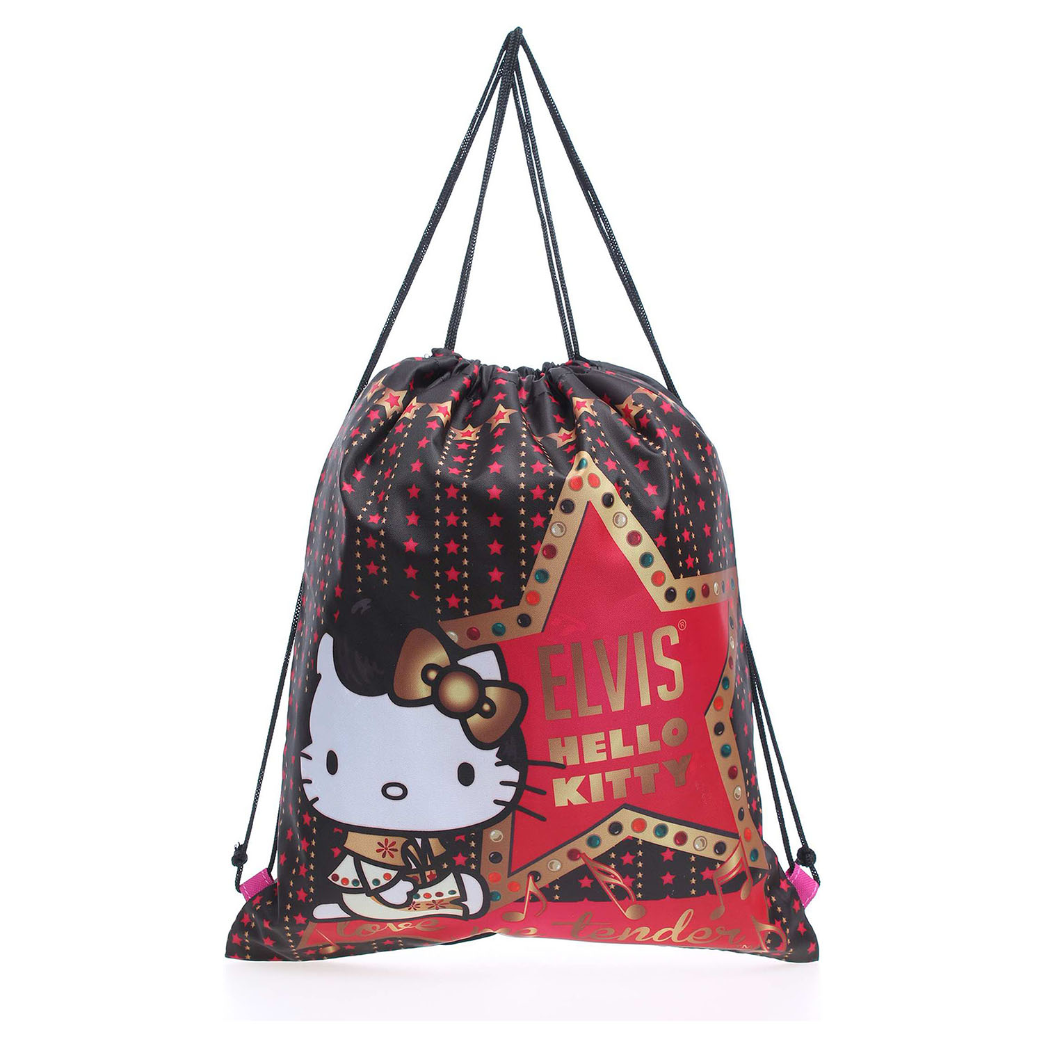 Hello Kitty 15345 black dětský batoh černý