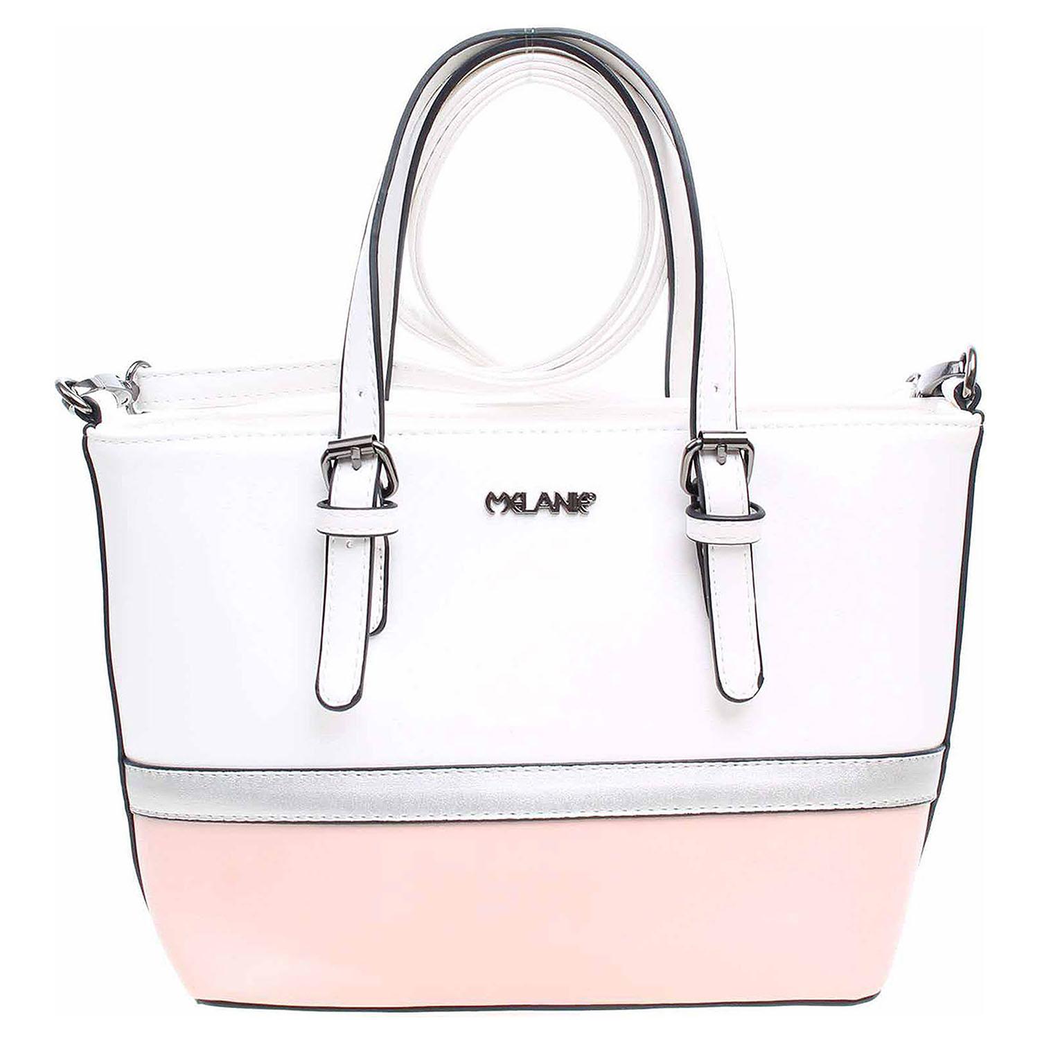 Dámská kabelka PC103 white-pink-silver PC103 mix white/pink/silver 1