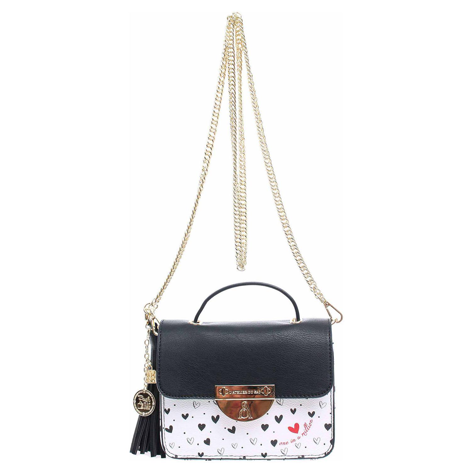 L'Atelier du Sac dámská kabelka 8576 černá-bílá 8576 černá/bílá 1