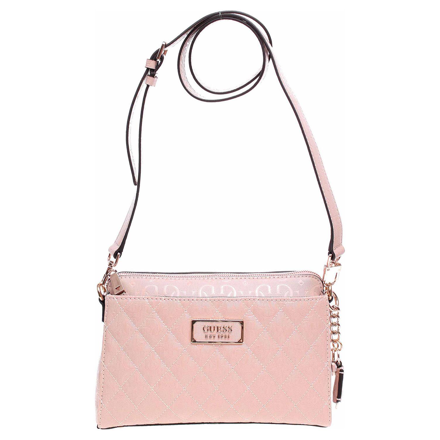 Guess dámská kabelka Lola Glossy Logo HWSR7874140 rose 1