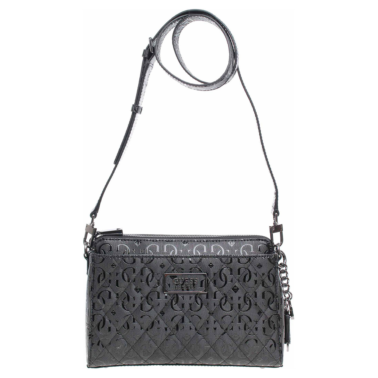 Guess dámská kabelka Lola Glossy Logo HWSM7874140 black 1