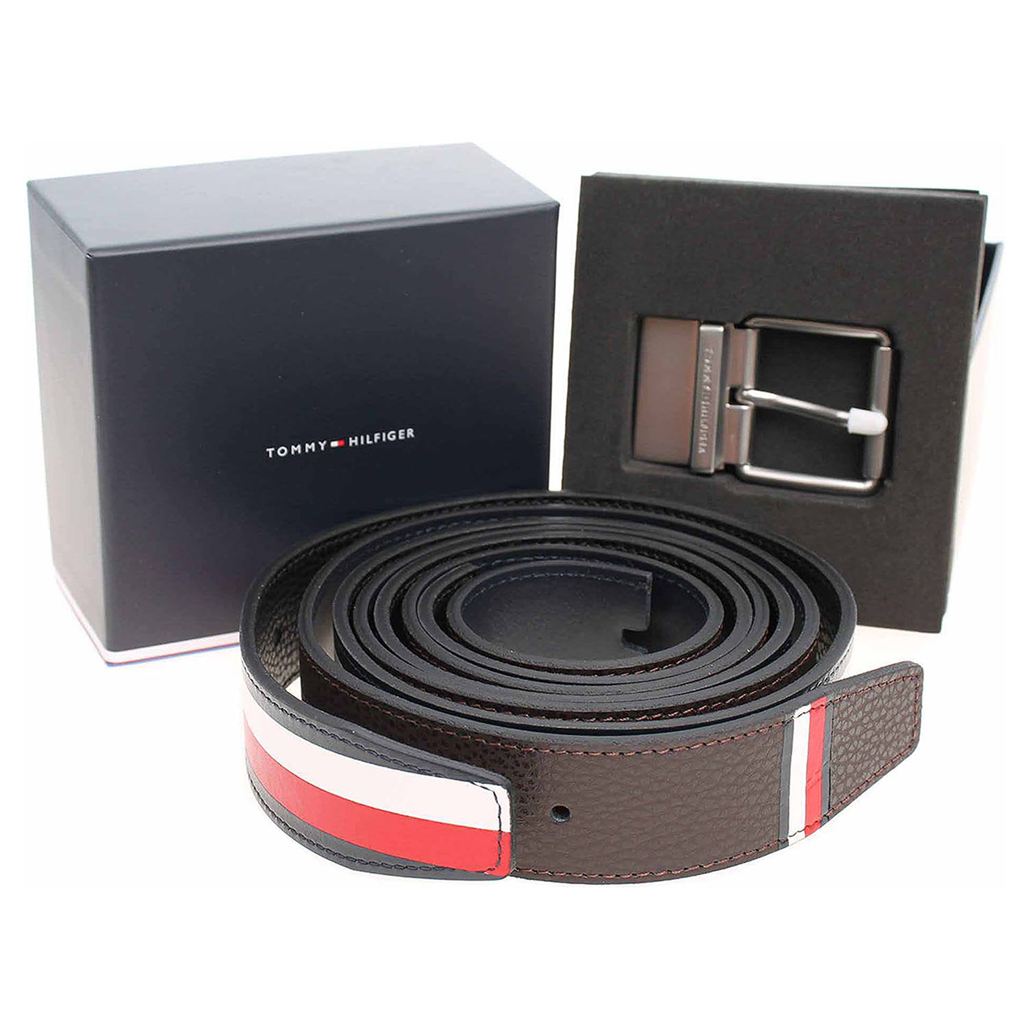 Tommy Hilfiger pánský pásek AM0AM04609 901 multi strap AM0AM04609 901 100
