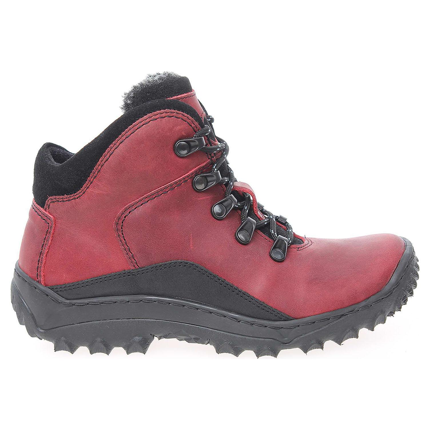 548be8aae2915 Dámská kotníková obuv EF151 červená-černá EF151 crc 37