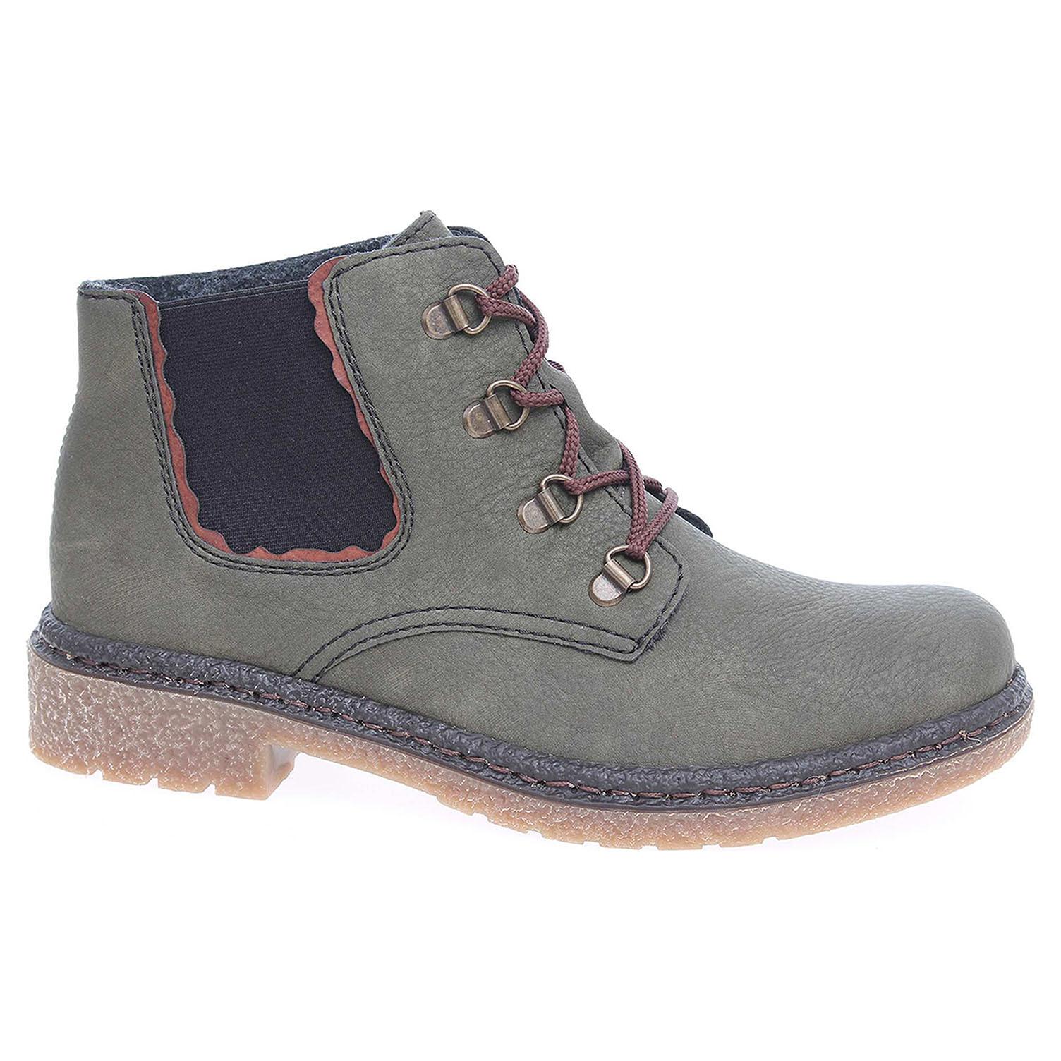 Dámská kotníková obuv Rieker 53234-54 zelené 53234-54 38