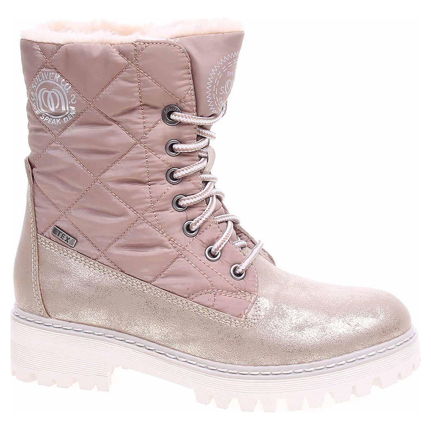 Dámská kotníková obuv s.Oliver 5-26250-39 rose metallic 5-5-26250-39 519 39