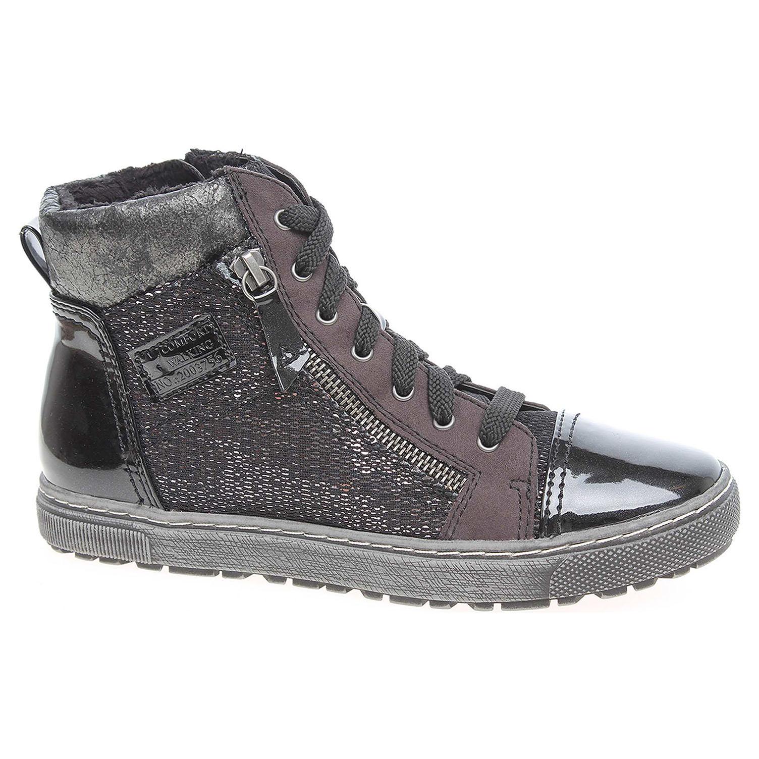 Dámská kotníková obuv Jana 8-26205-29 black comb 8-8-26205-29 098 39