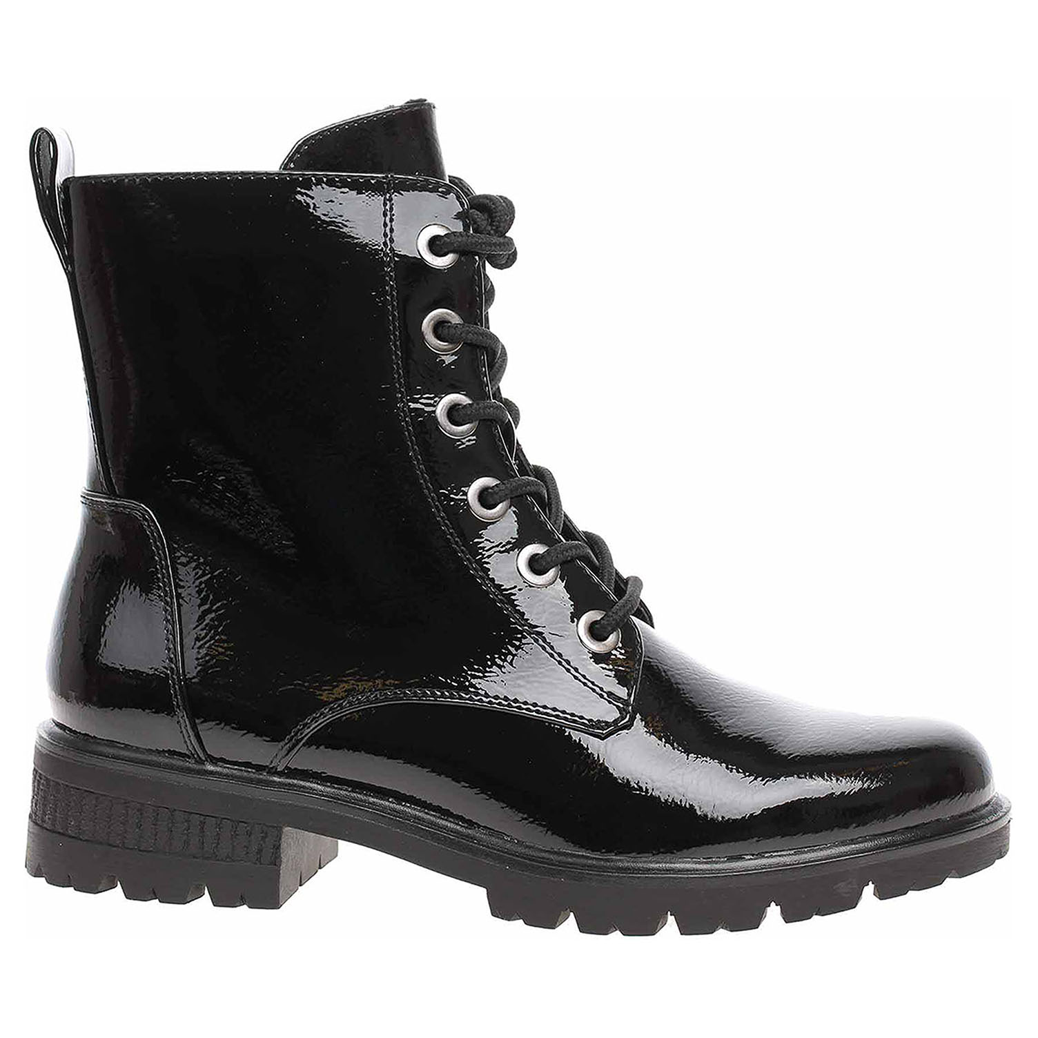 Dámská kotníková obuv Tamaris 1-25280-23 black patent 1-1-25280-23 018 39