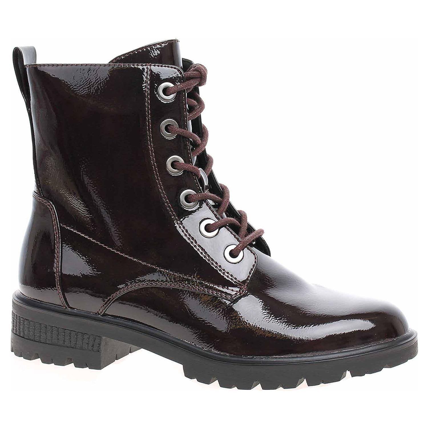 Dámská kotníková obuv Tamaris 1-25280-21 bordeaux patent 1-1-25280-23 580 40