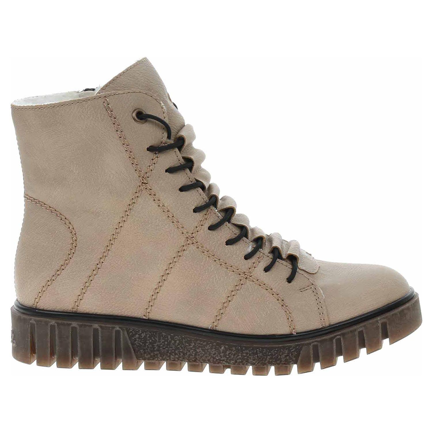 Dámská kotníková obuv Rieker Y3420-60 beige Y3420-60 39