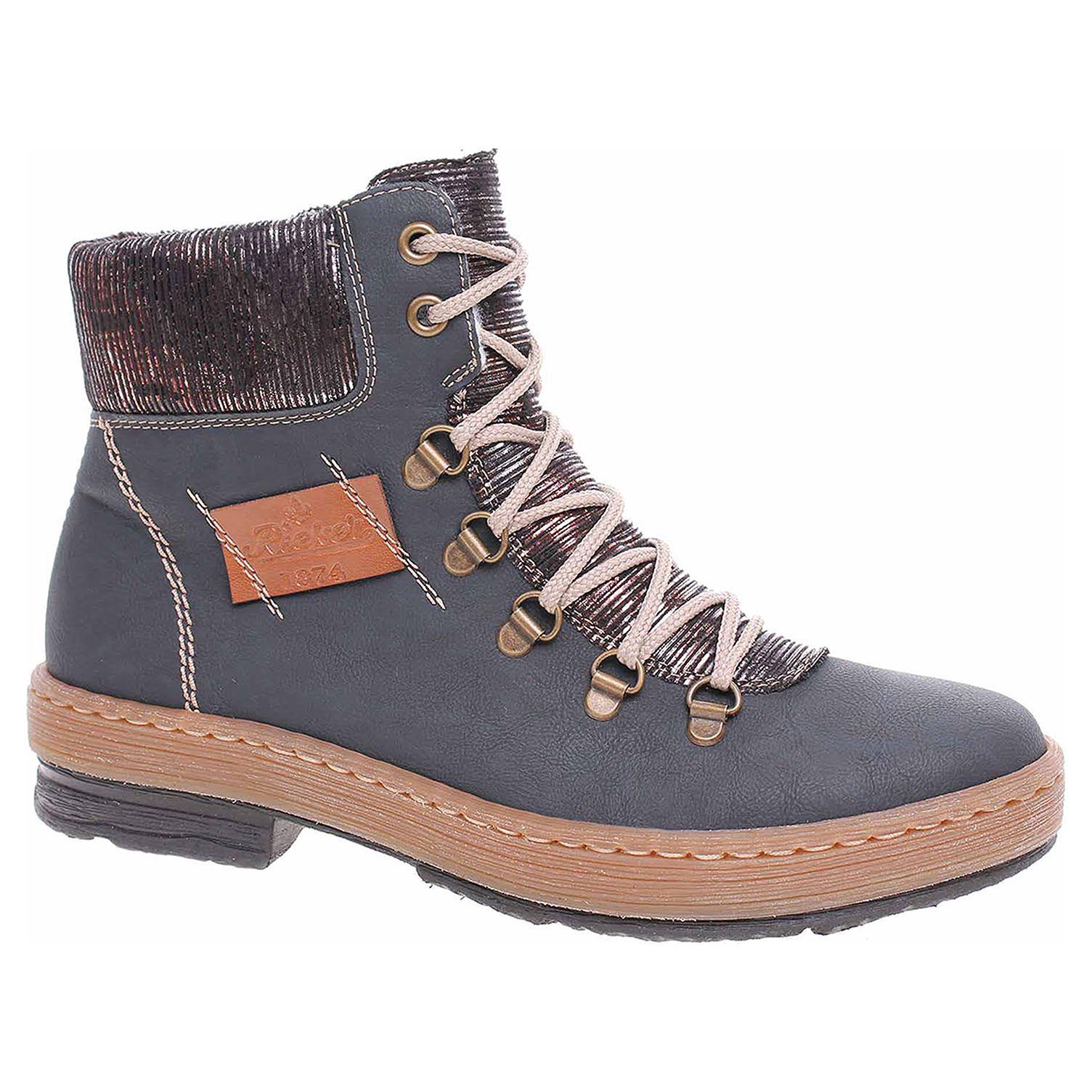 Dámská kotníková obuv Rieker Z6743-14 blau Z6743-14 39