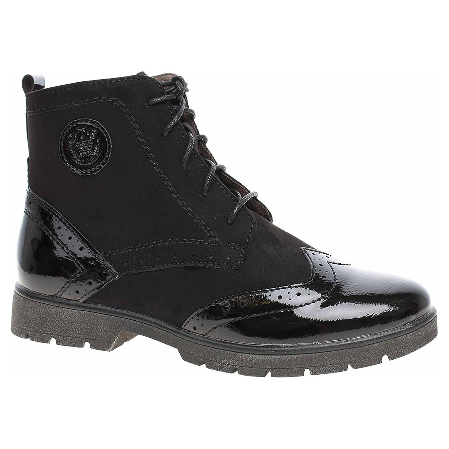 Dámská kotníková obuv Jana 8-25265-21 black 8-8-25265-21 001 38