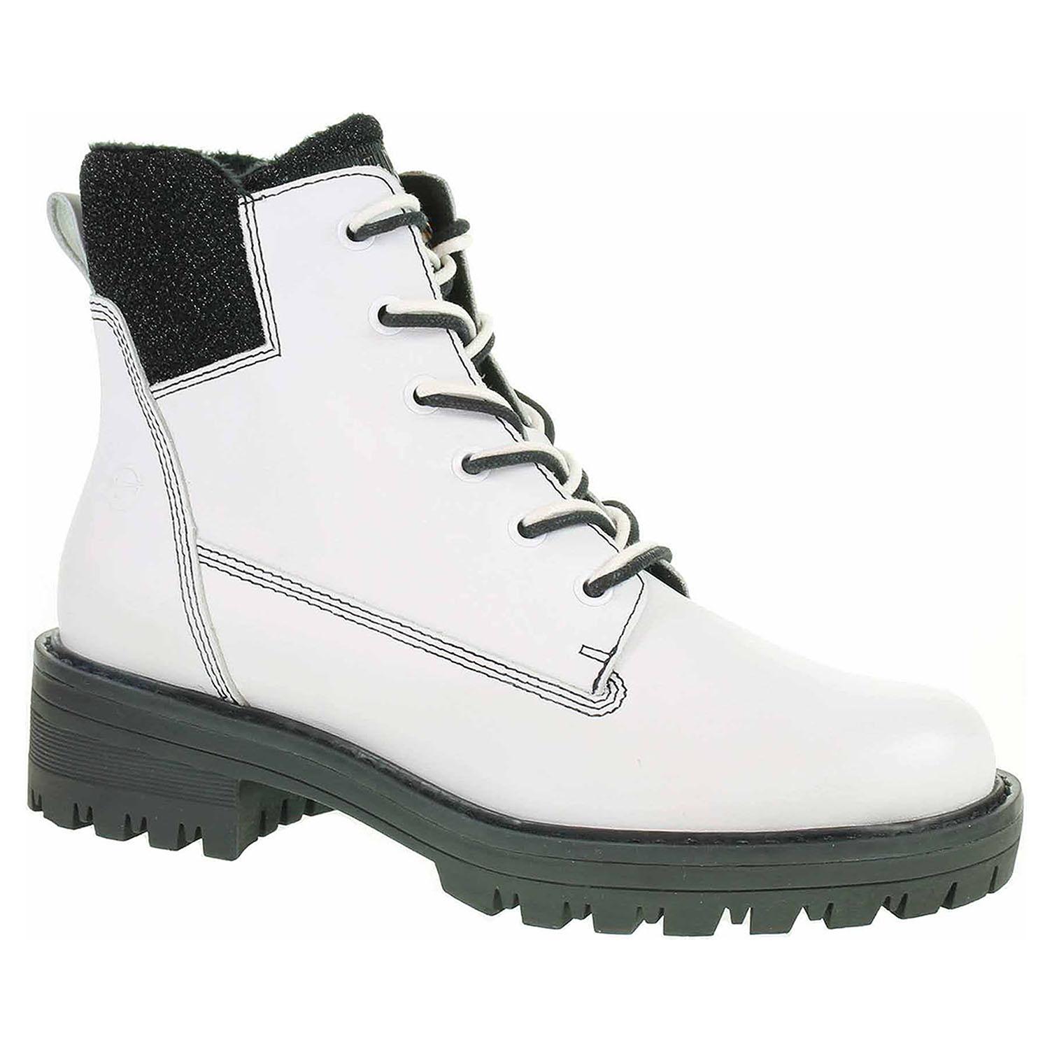 Dámská kotníková obuv Tamaris 1-25214-21 white-black 1-1-25214-21 125 39