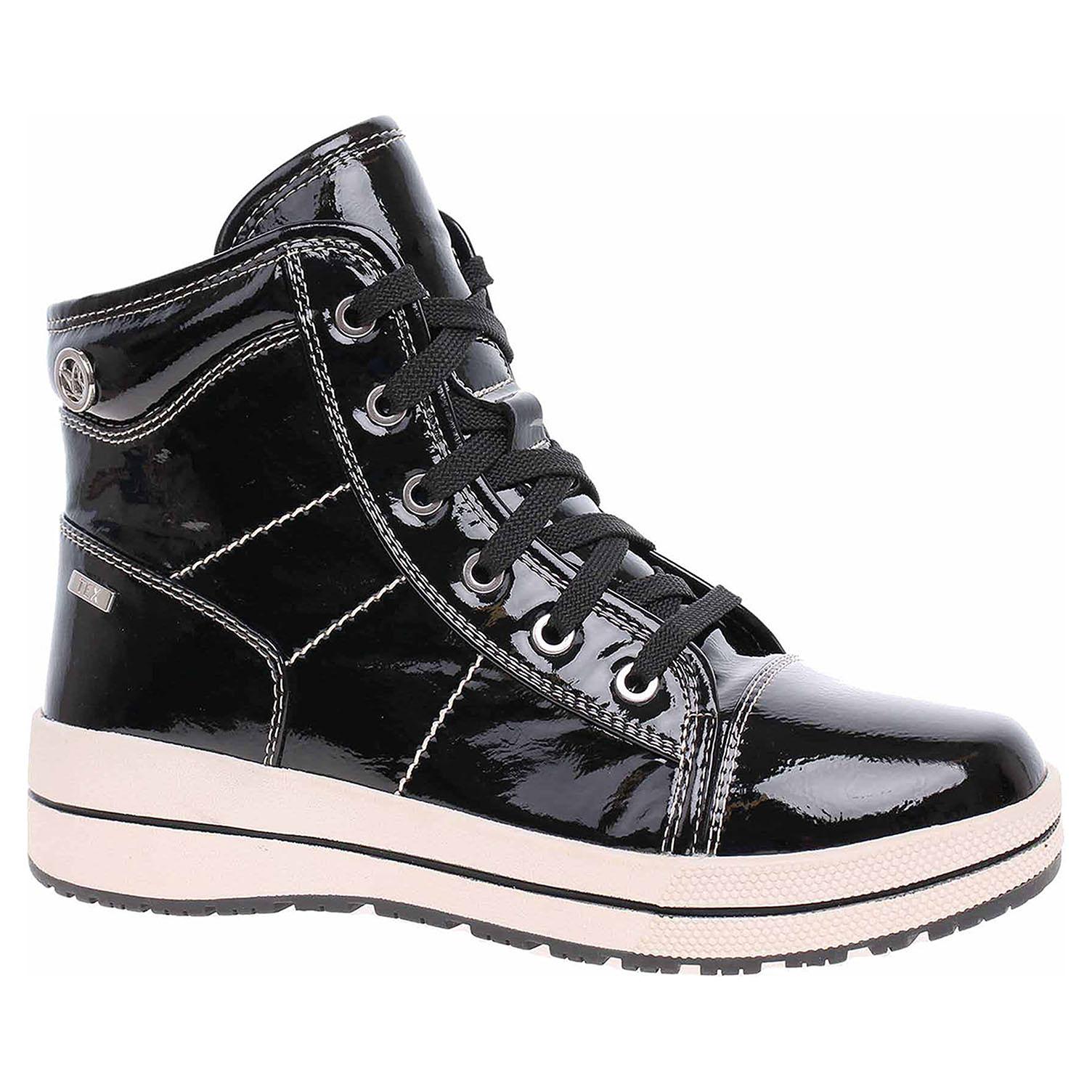 Dámská kotníková obuv Caprice 9-26222-21 black patent 9-9-26222-21 018 39
