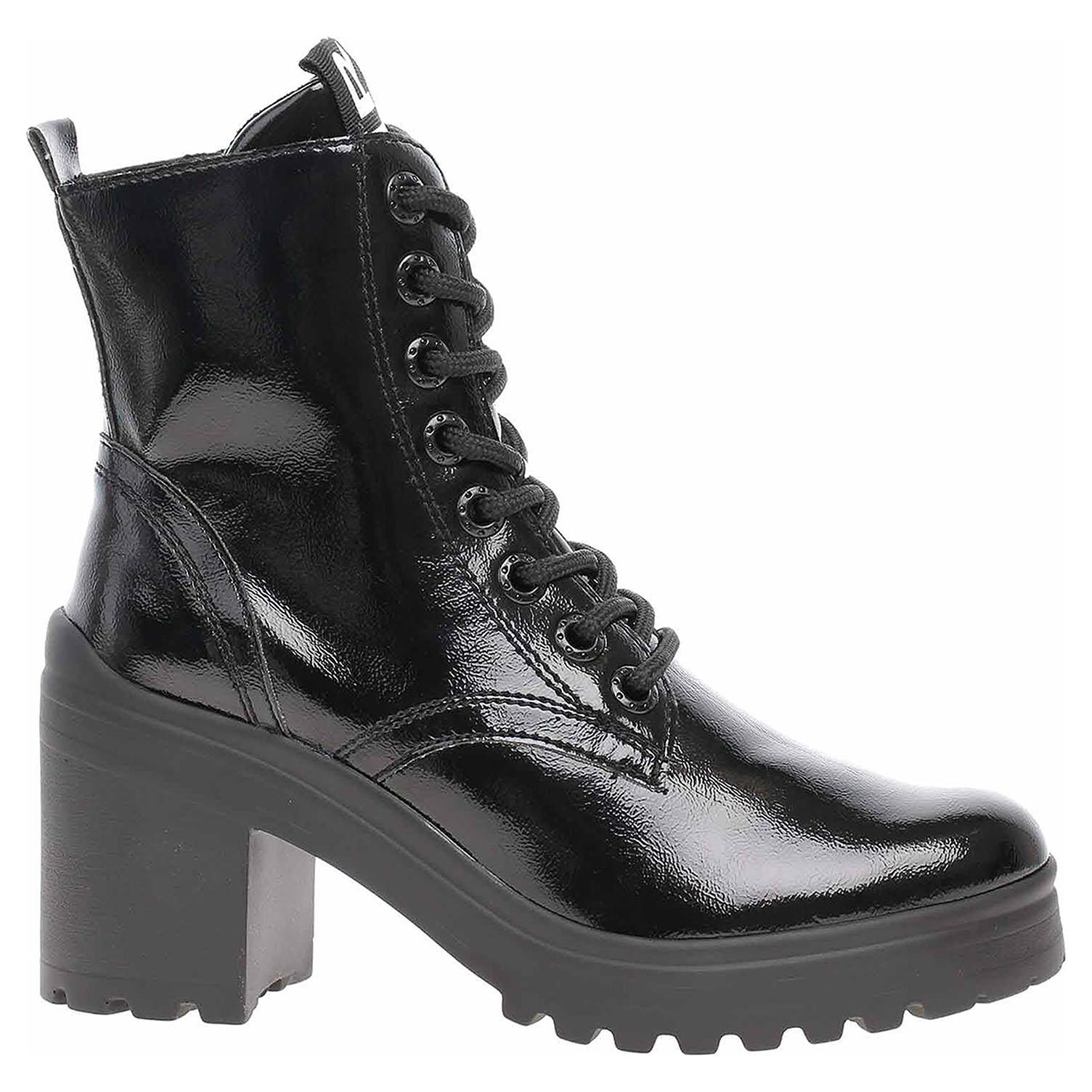 Dámská kotníková obuv Tamaris 1-25282-23 black patent 1-1-25282-23 018 39