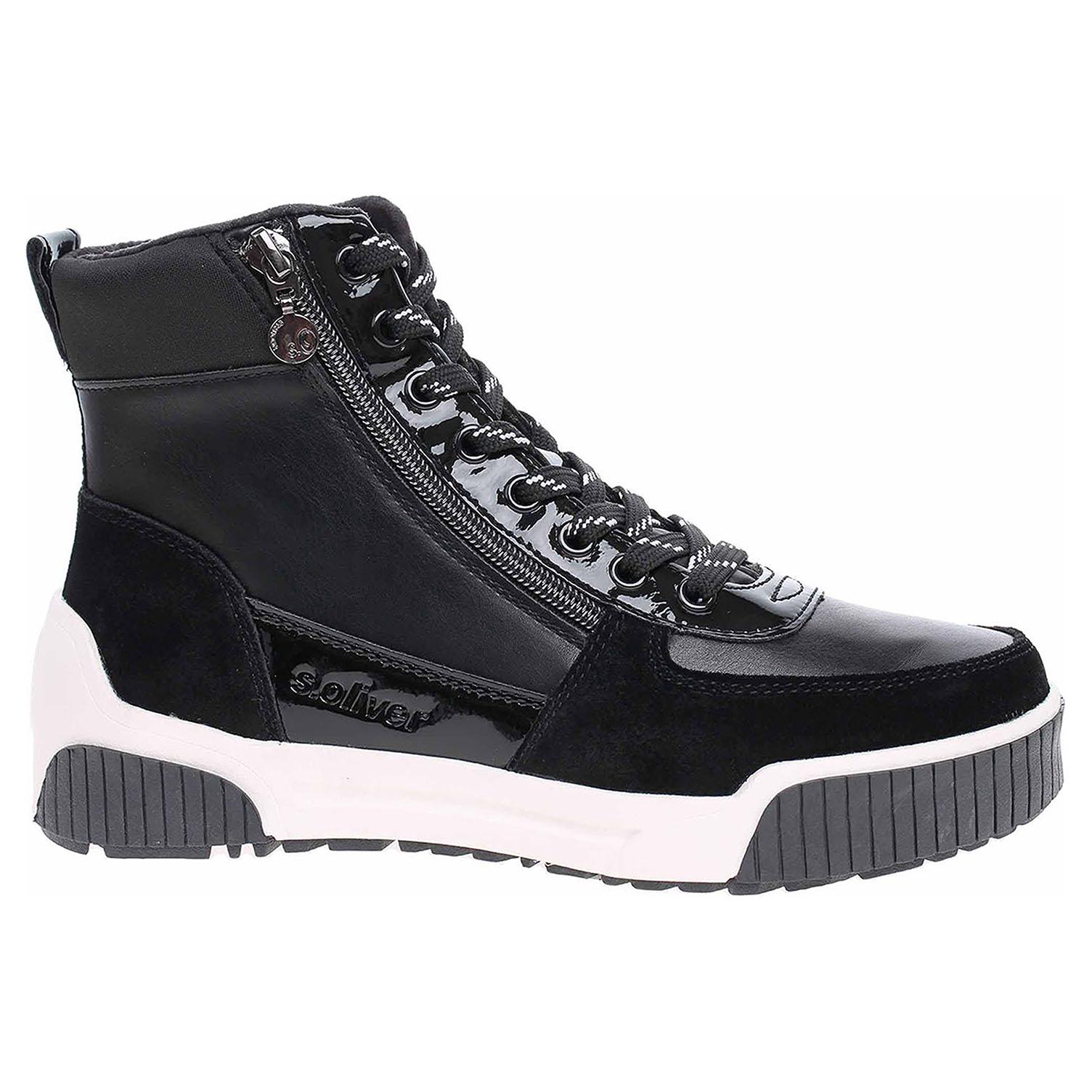 Dámská kotníková obuv s.Oliver 5-25207-33 black 5-5-25207-33 001 39