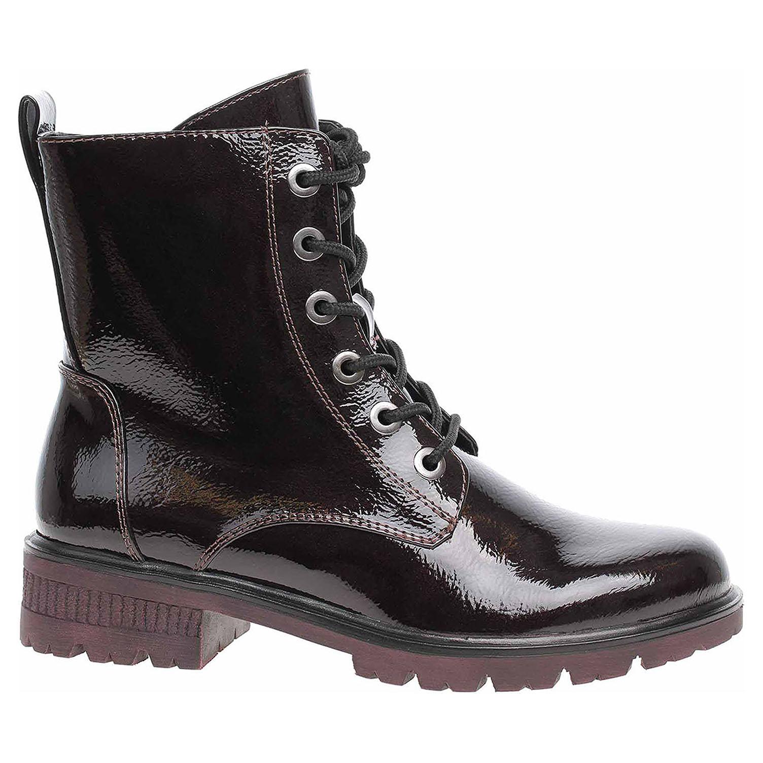 Dámská kotníková obuv Tamaris 1-25280-23 bordeaux pat. 1-1-25280-23 580 . 40