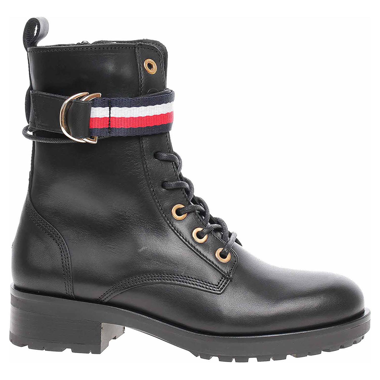 Dámská kotníková obuv Tommy Hilfiger FW0FW04326 990 black FW0FW04326 990 39