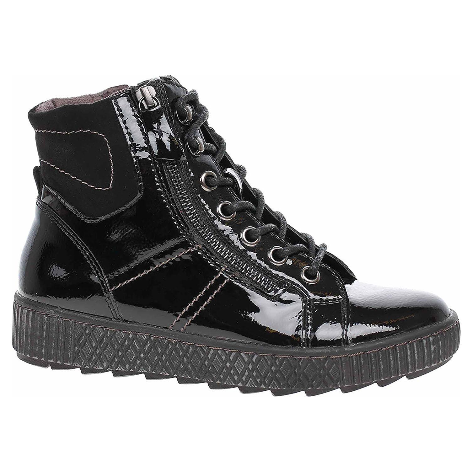 Dámská kotníková obuv Jana 8-25203-23 black patent 8-8-25203-23 018 39