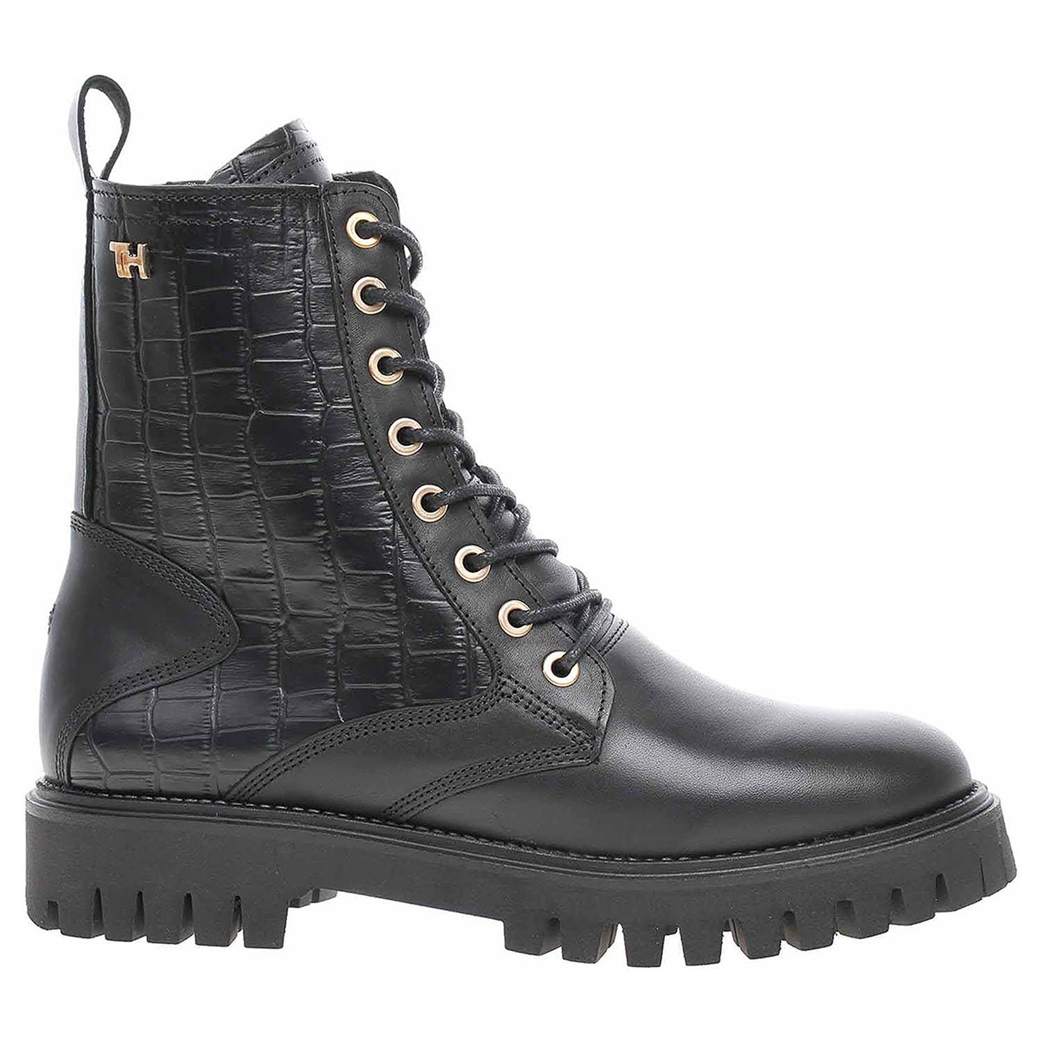 Dámská kotníková obuv Tommy Hilfiger FW0FW05284 BDS black FW0FW05284 BDS 39