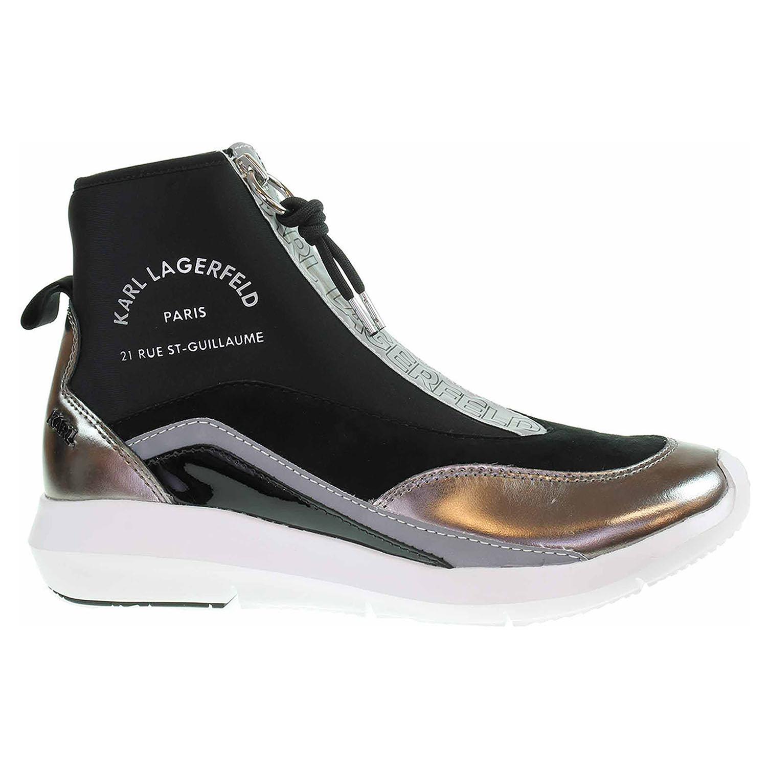 Dámská kotníková obuv Karl Lagerfeld KL61145 40S black lthr KL61145 40S 39