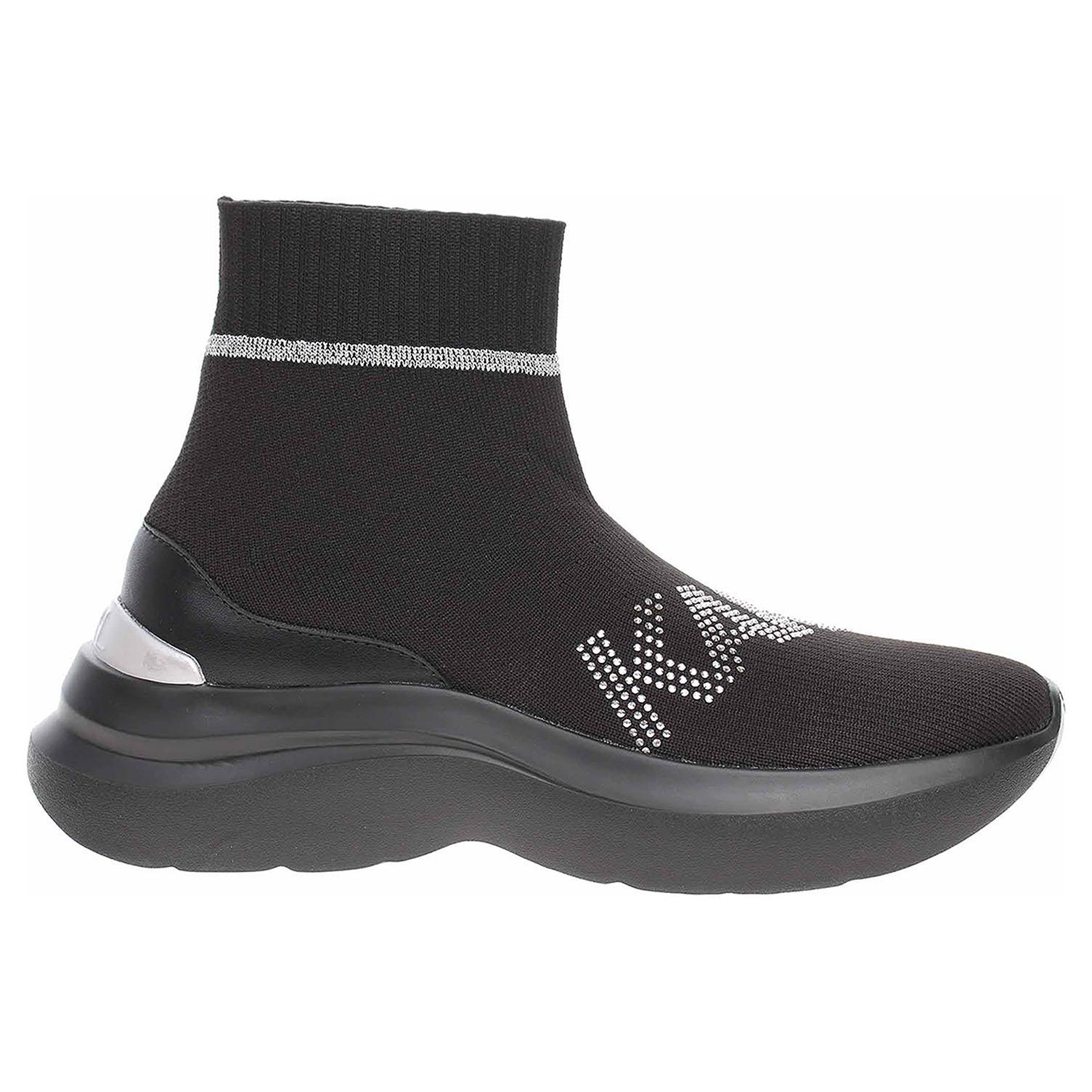 Dámská kotníková obuv Karl Lagerfeld KL61855 K0S black knit KL61855 K0S 39
