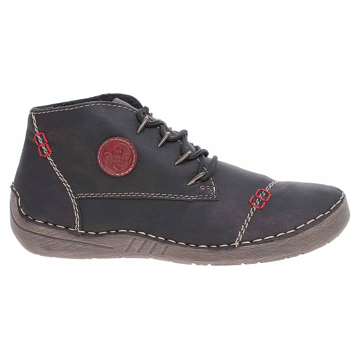 Dámská kotníková obuv Rieker 52502-00 schwarz 52502-00 39