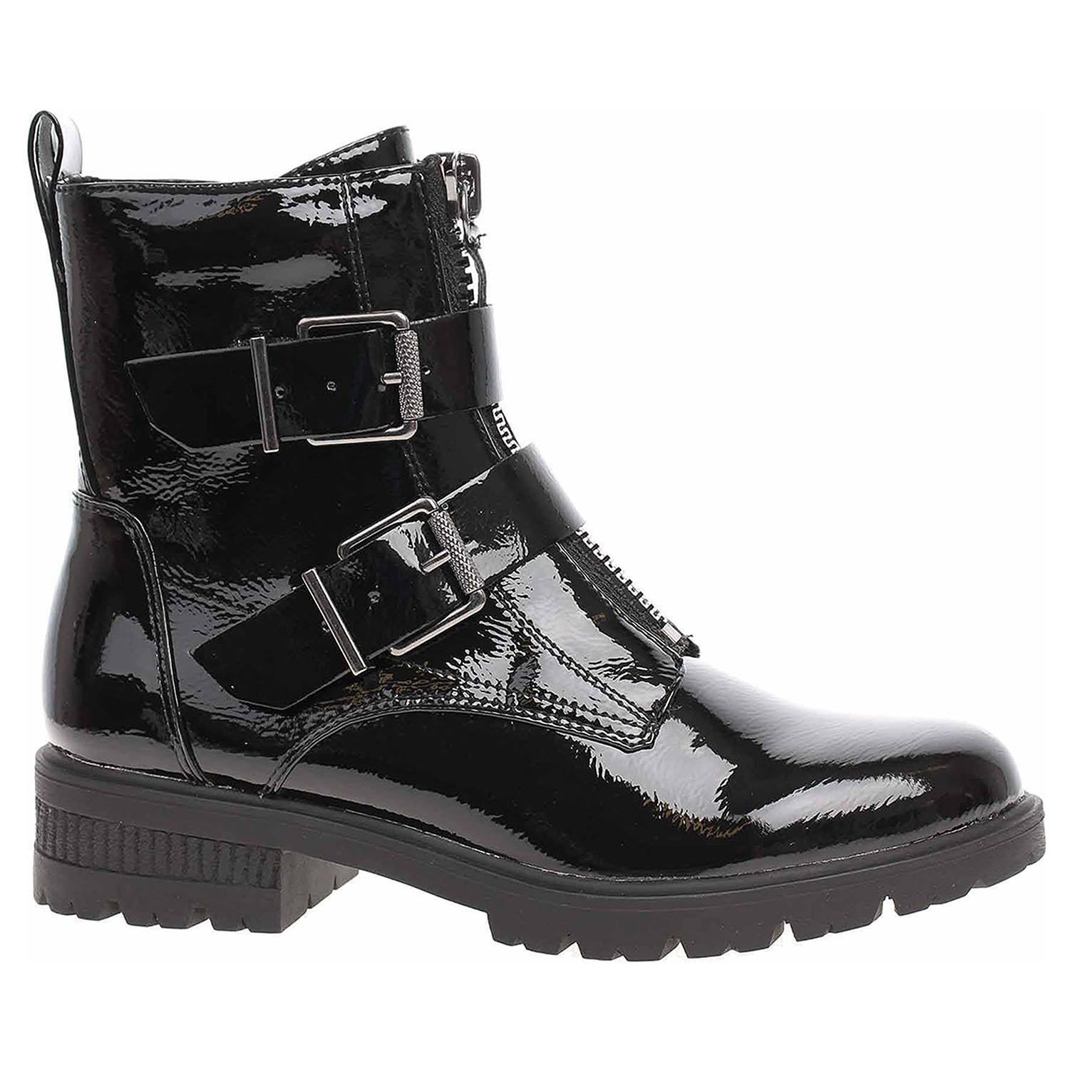 Dámská kotníková obuv Tamaris 1-25414-23 black patent 1-1-25414-23 018 39