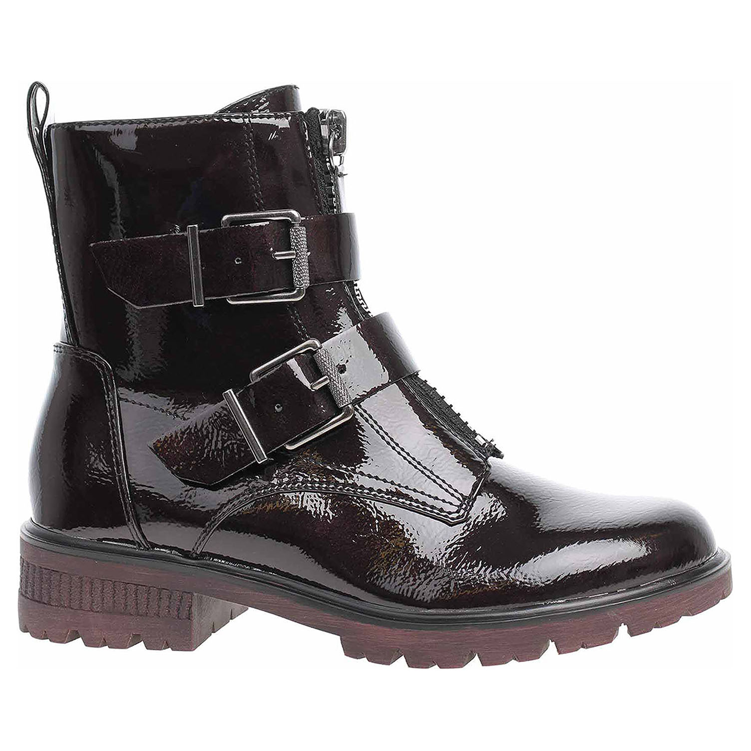 Dámská kotníková obuv Tamaris 1-25414-23 dk.bordo patent 1-1-25414-23 564 37