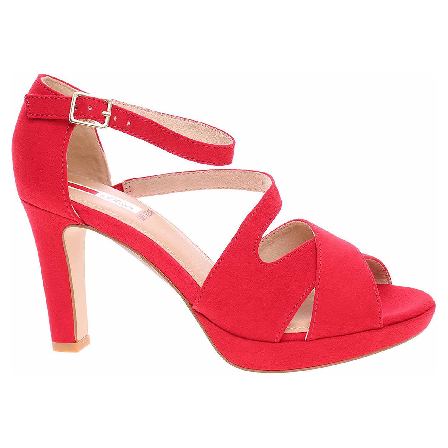 Dámská společenská obuv s.Oliver 5-28323-24 red 5-5-28323-24 500 39