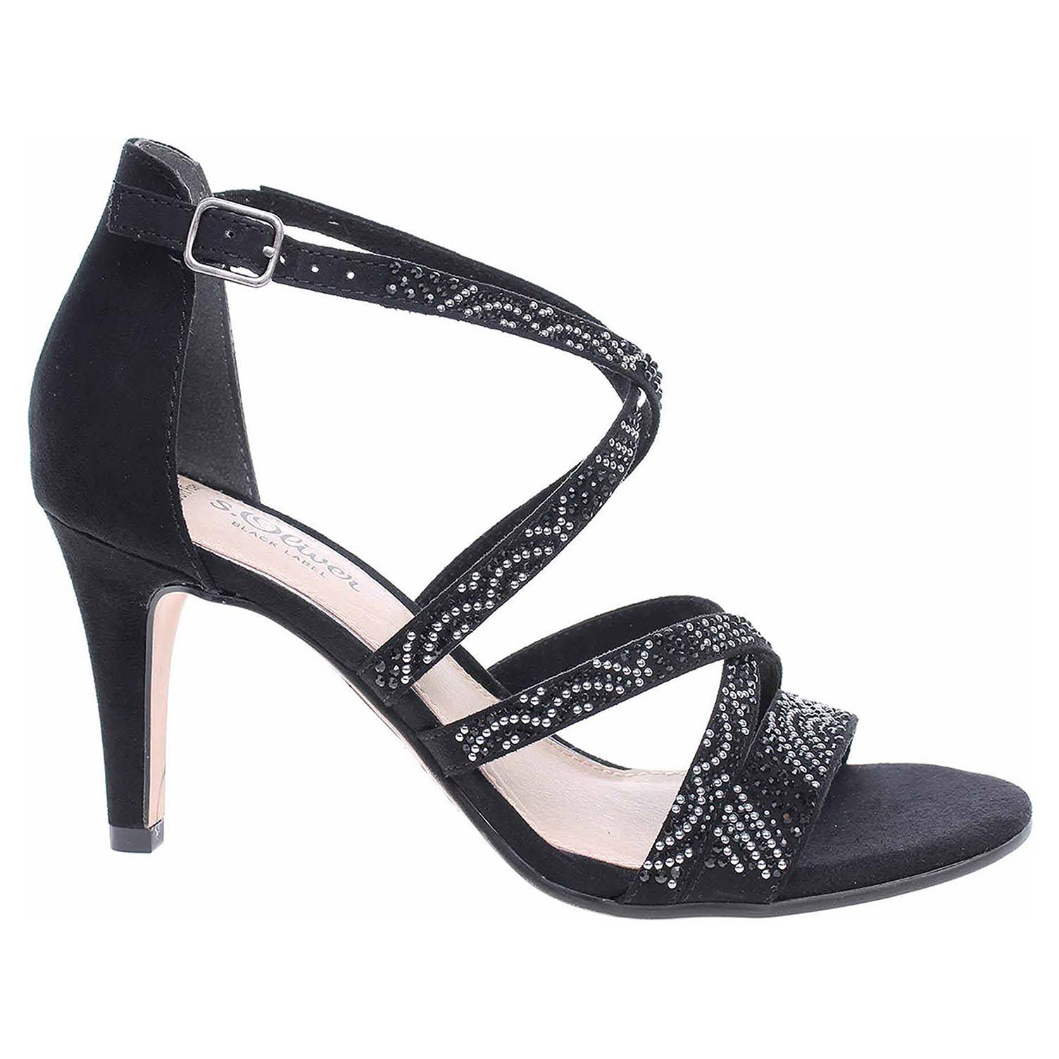 Dámská společenská obuv s.Oliver 5-28306-22 black 5-5-28306-22 001 38