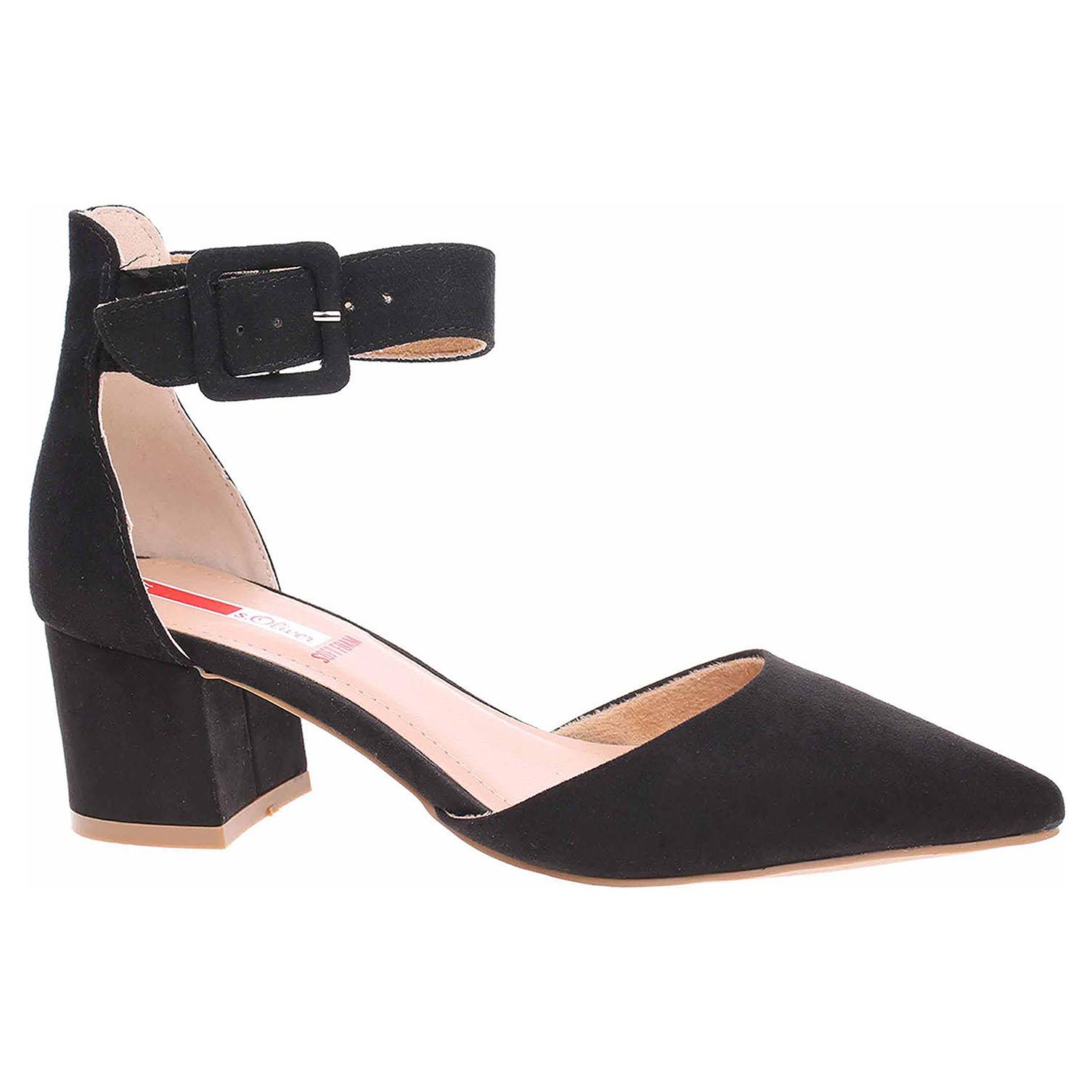 Dámská společenská obuv s.Oliver 5-24407-24 black 5-5-24407-24 001 38