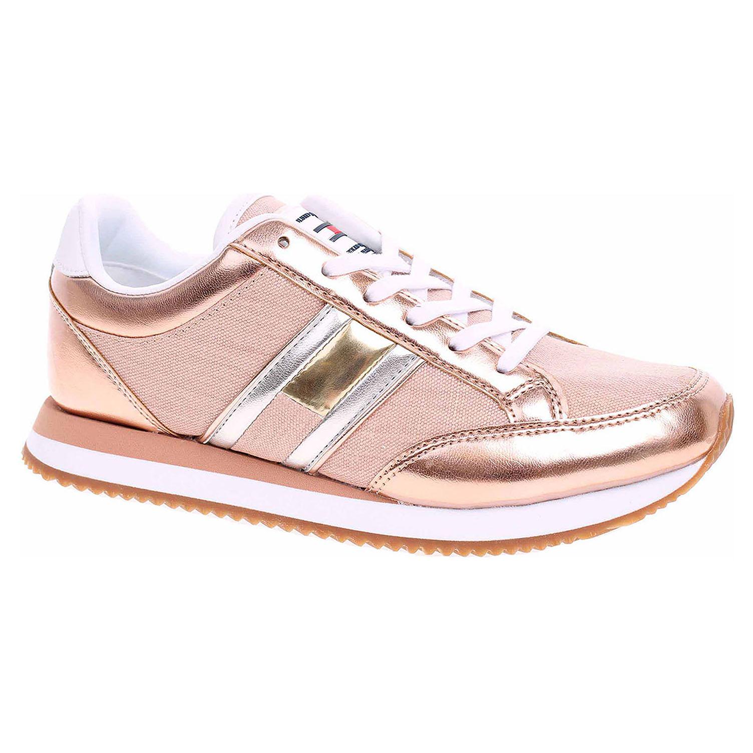 Dámská obuv Tommy Hilfiger EN0EN00413 rose gold EN0EN00413 652 37