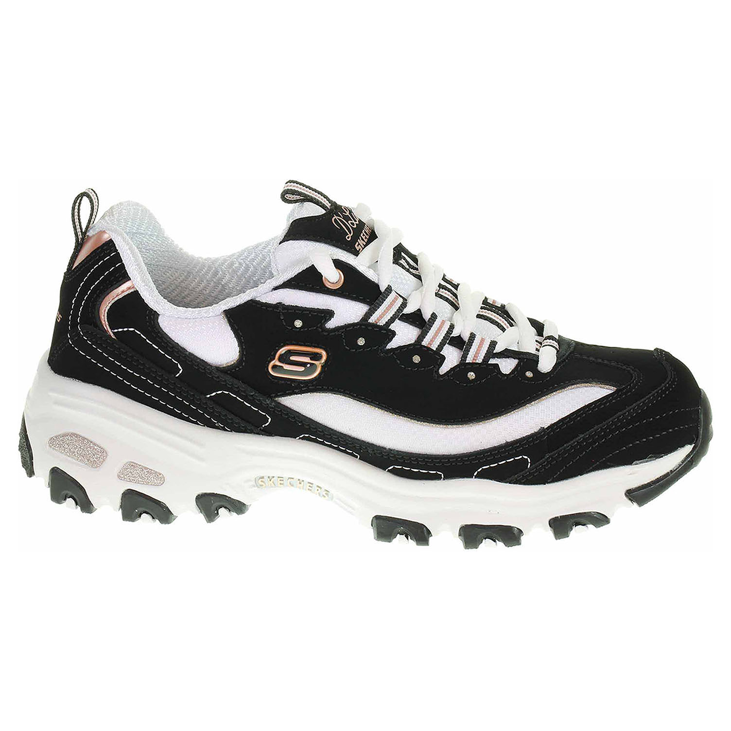 Skechers D´Lites - Devoted Fan black-rose gold 13154 BKRG 39