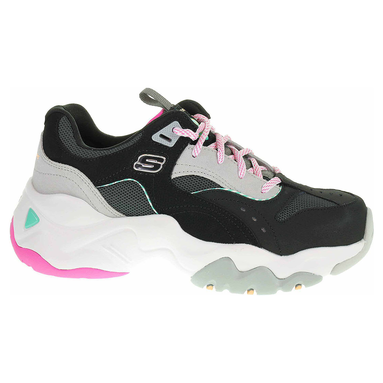 Skechers D´Lites 3.0 - Ocean Cloud black-hot pink 13377 BKHP 39
