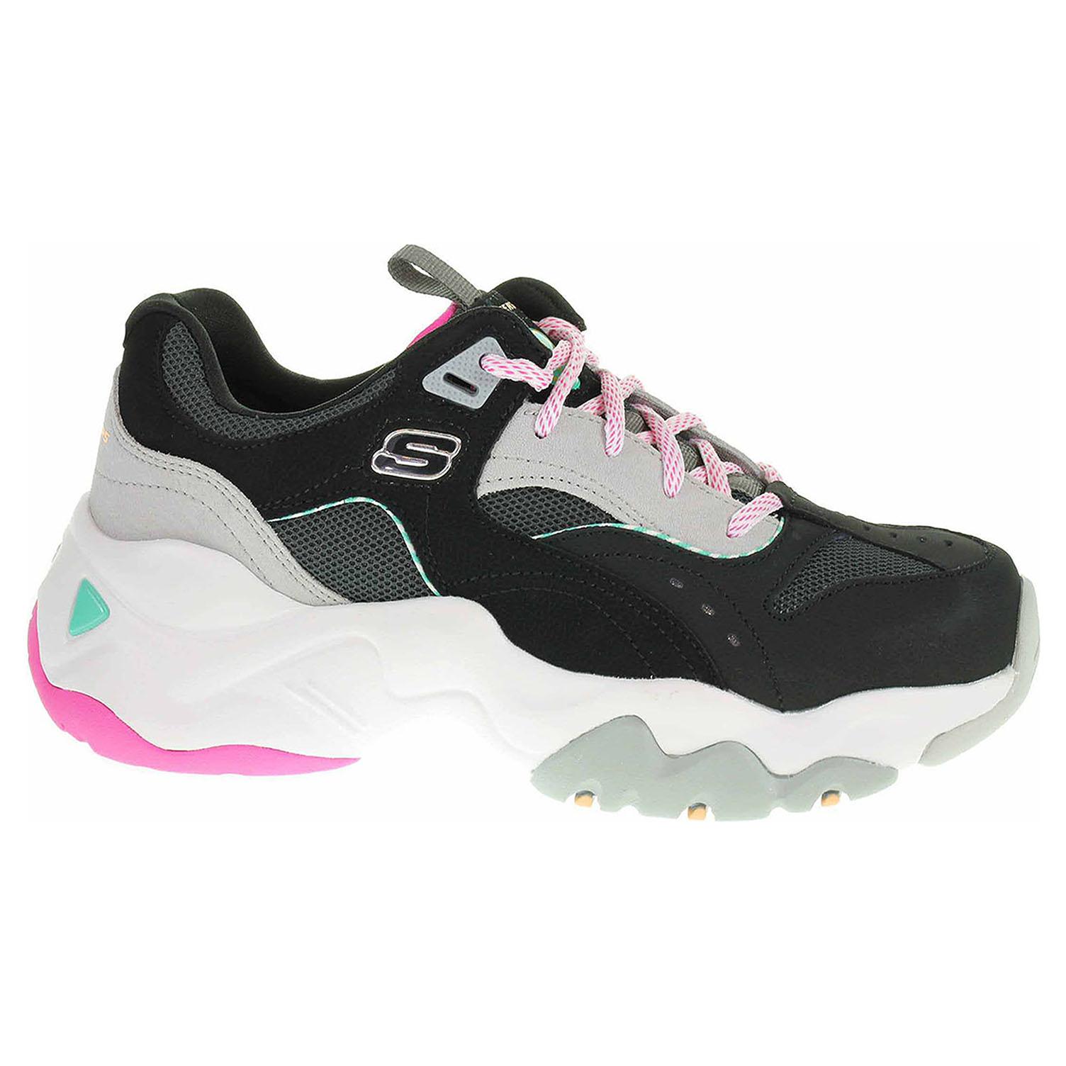 Skechers D´Lites 3.0 - Ocean Cloud black-hot pink 13377 BKHP 38,5