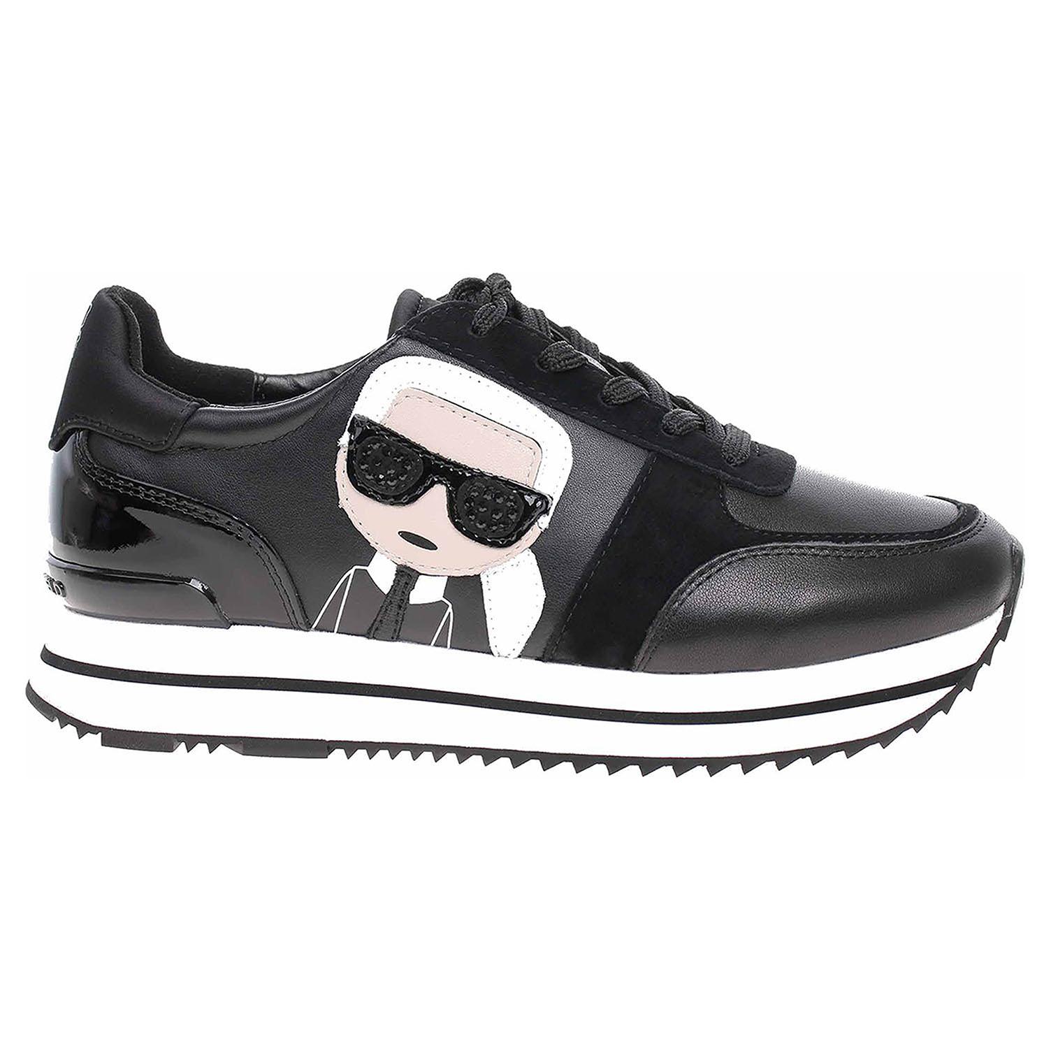 Dámská obuv Karl Lagerfeld KL61930 300 black lthr-suede KL61930 300 39