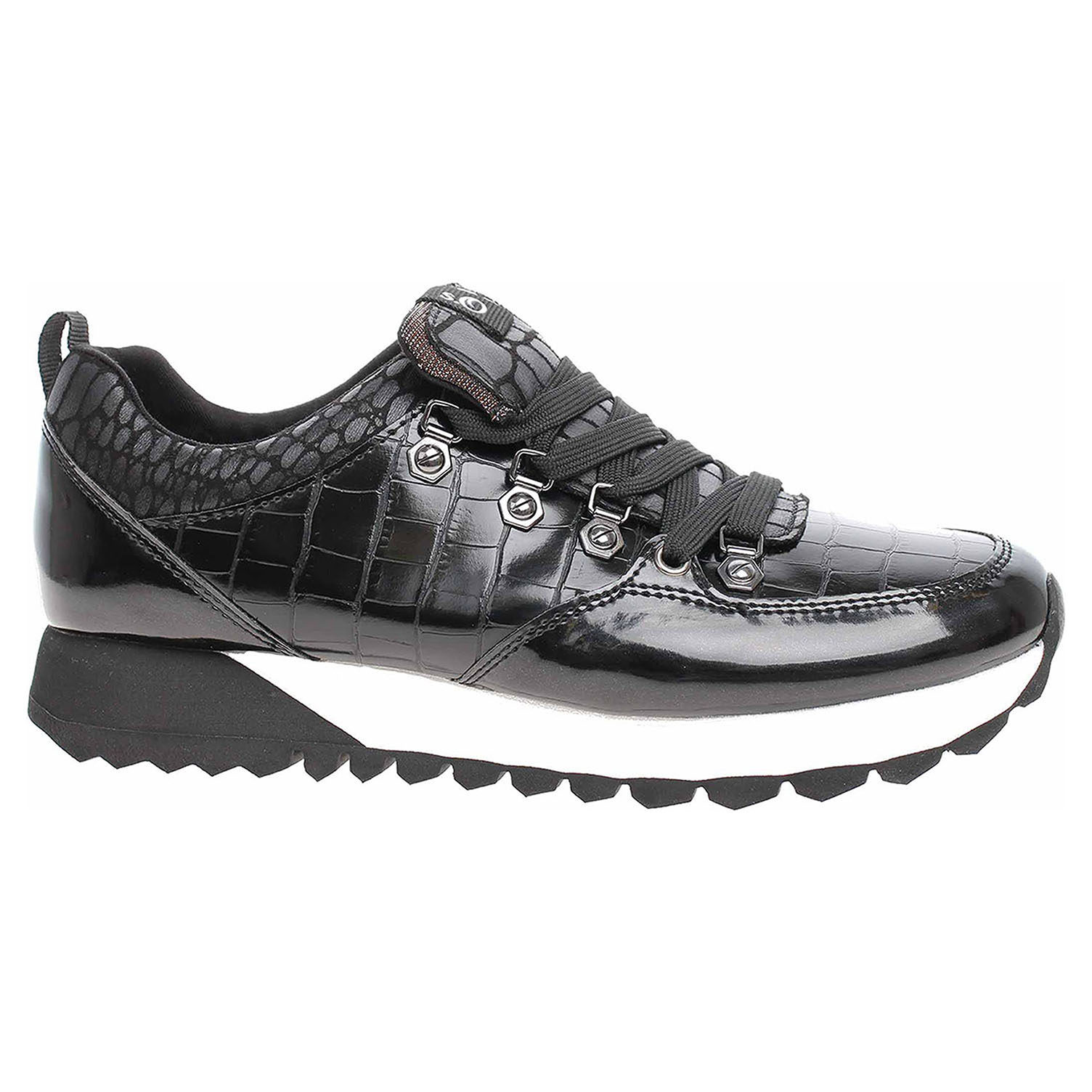 Dámská obuv s.Oliver 5-23622-35 blk croco comb 5-5-23622-35 056 42