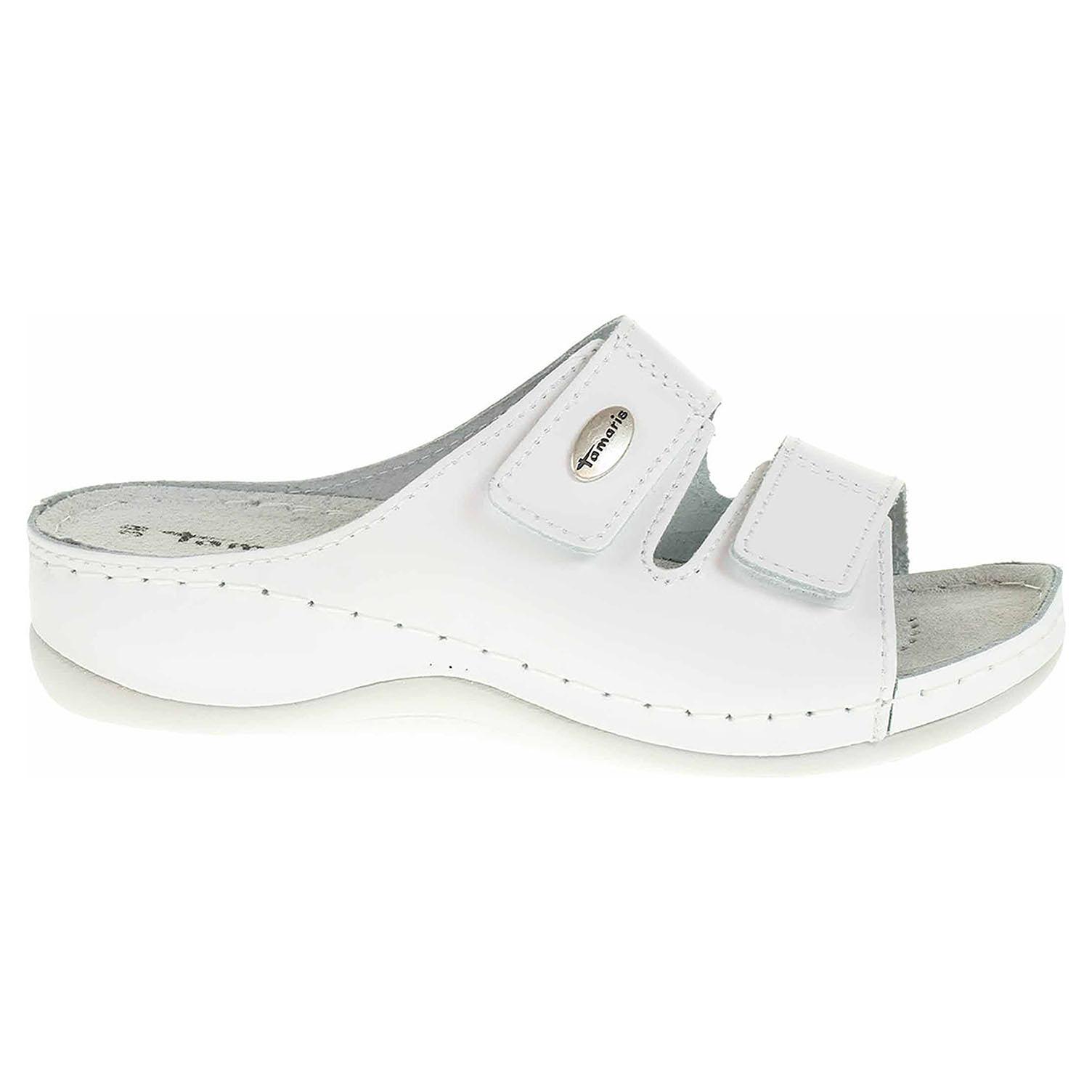 Dámské pantofle Tamaris 1-27510-22 white leather 1-1-27510-22 117 40