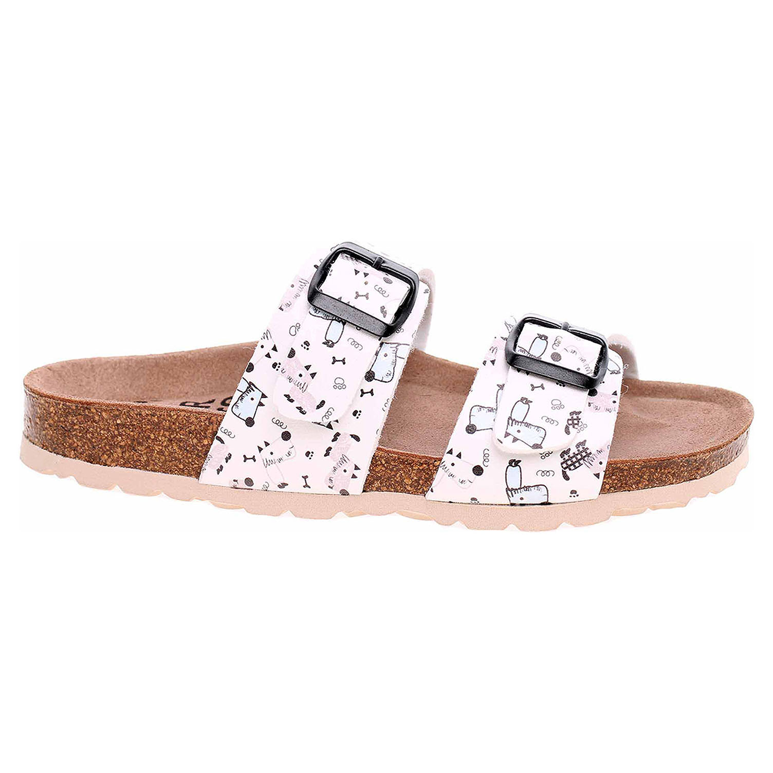 Dámské pantofle Forcare 203015 bílá-multi 203015 bílá/multi 39