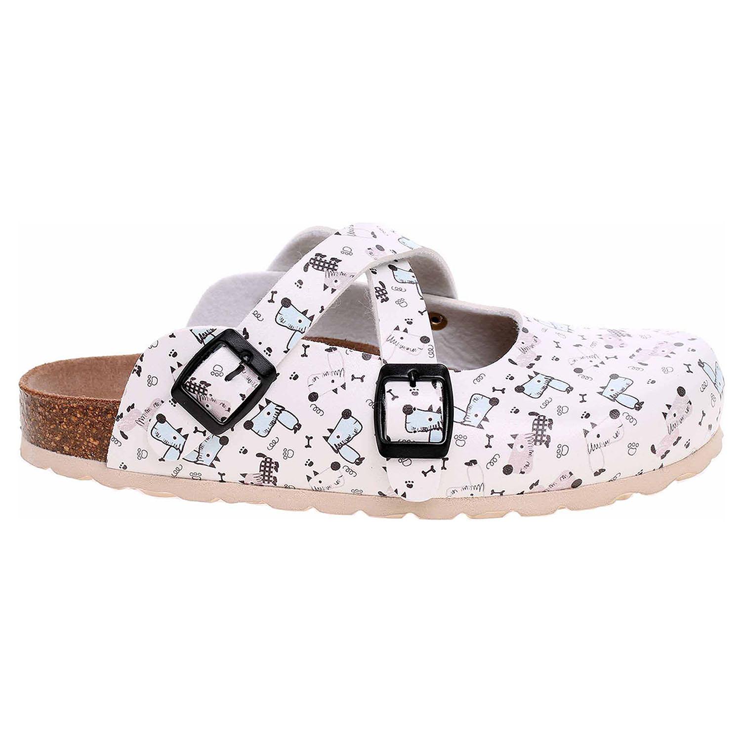 Dámské pantofle Forcare 101015 bílá-multi 101015 bílá/multi 39