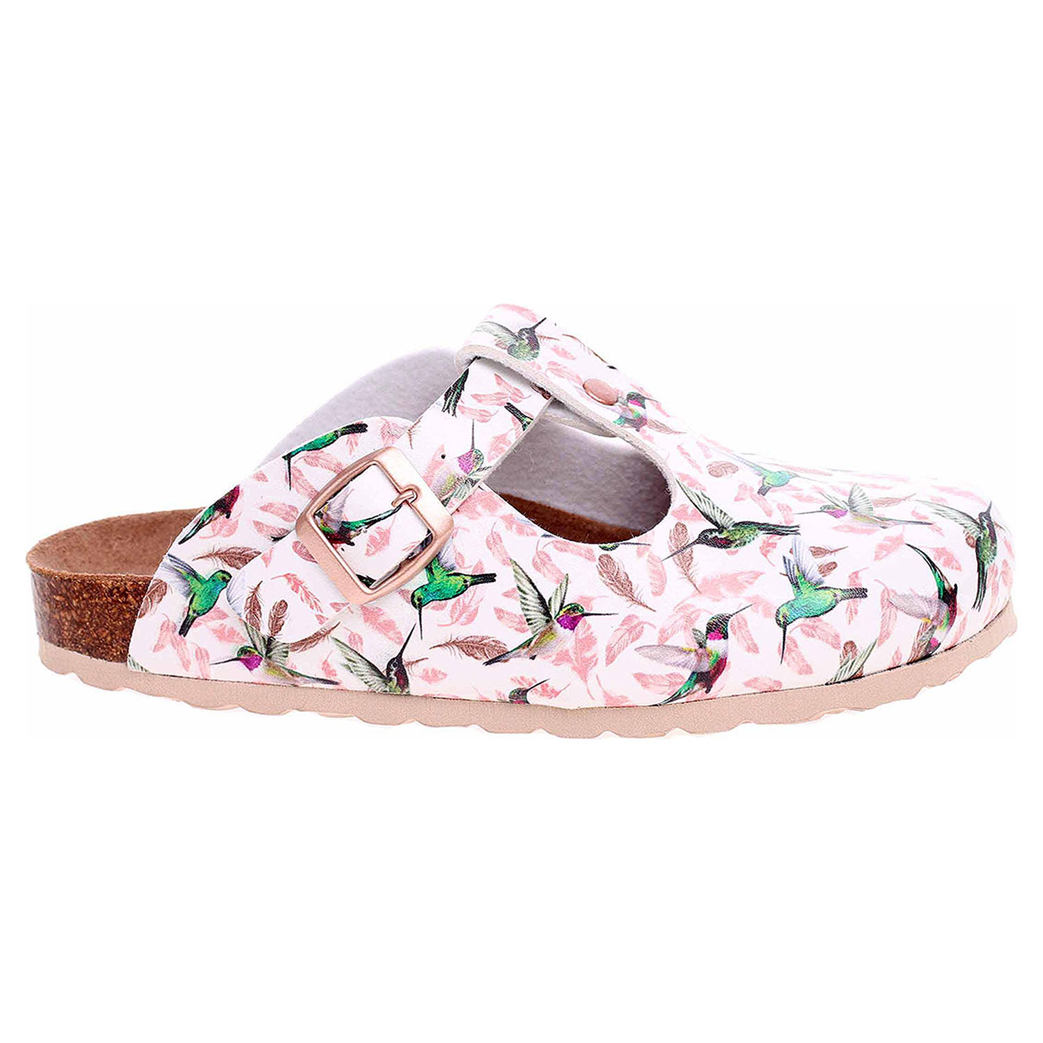 Dámské pantofle Forcare 103010 bílá-multi 103010 bílá/multi 39