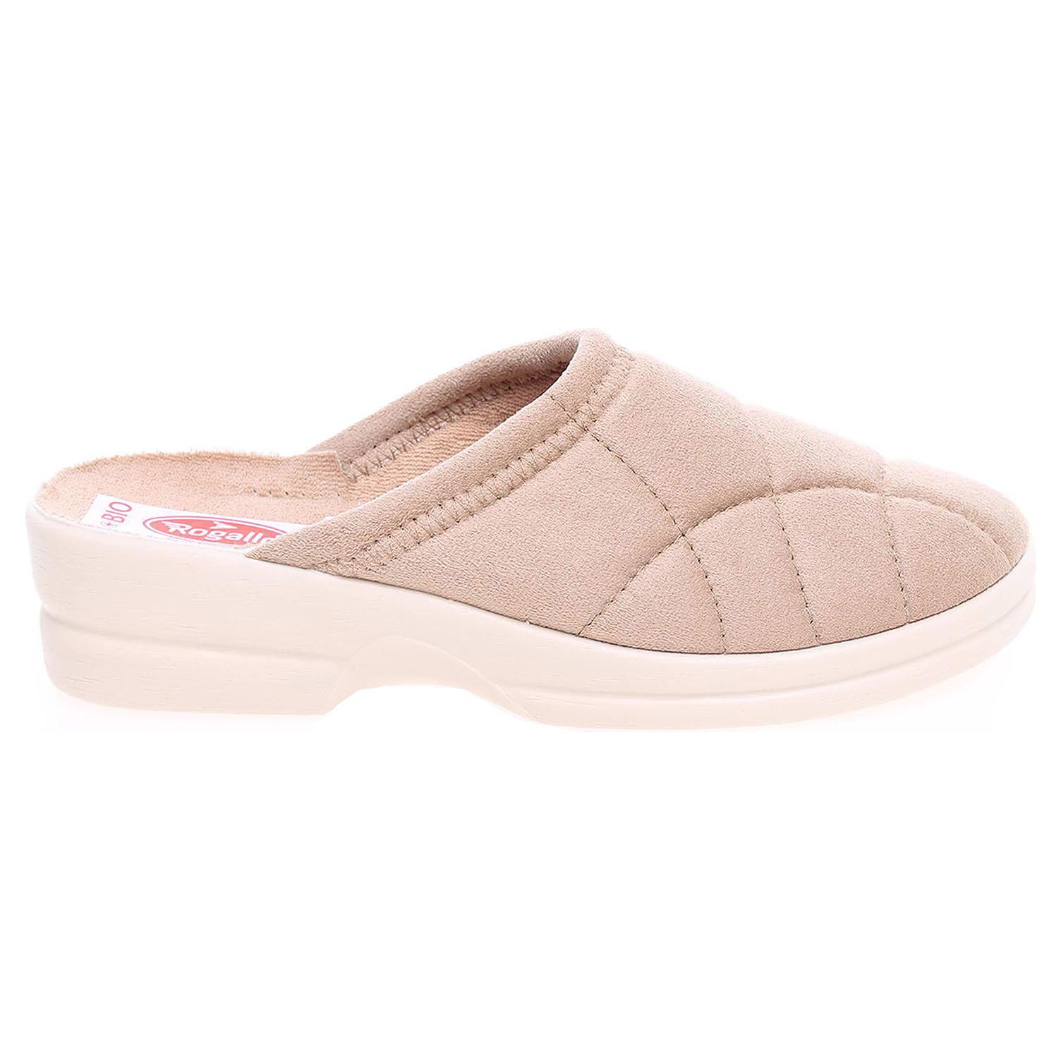 Rogallo domácí dámské pantofle 14779 béžové E-14779 41