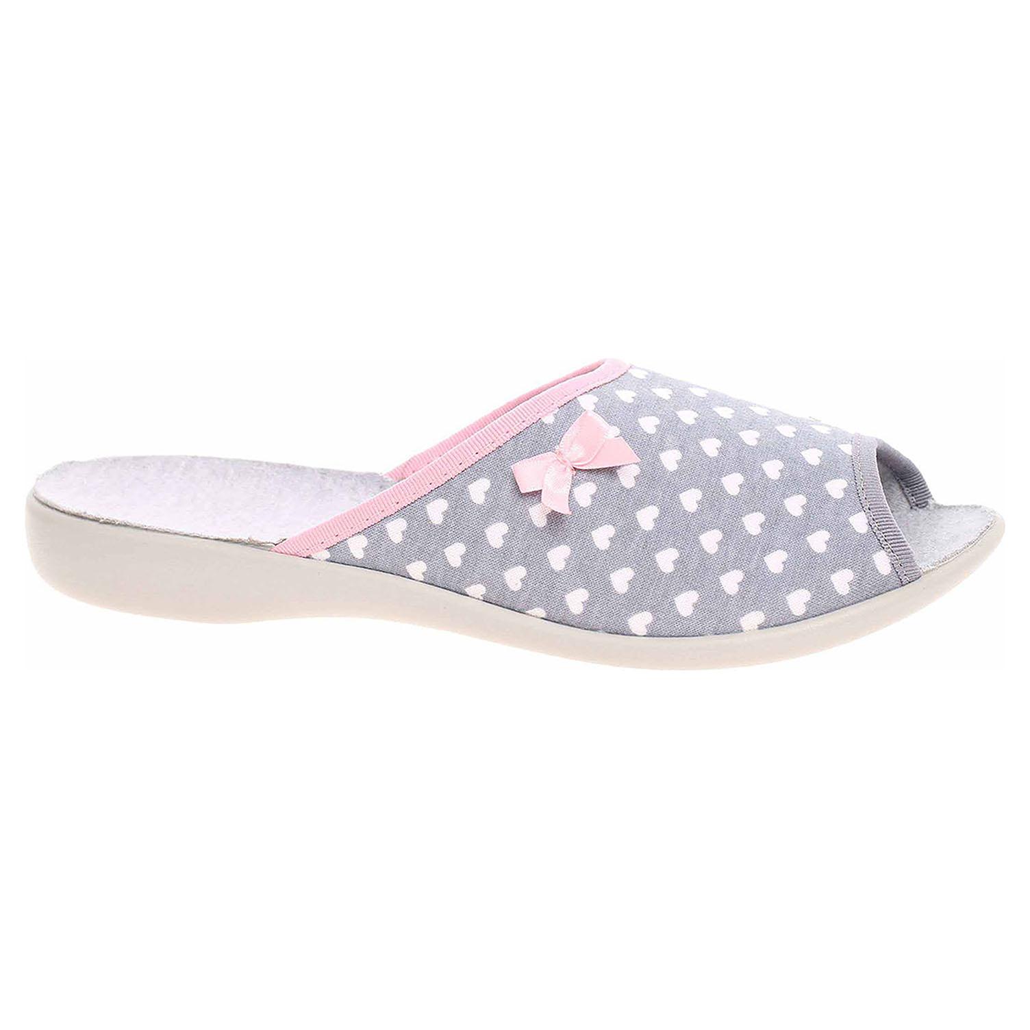 Dámské domácí pantofle Befado 254D064 šedá 254D064 38