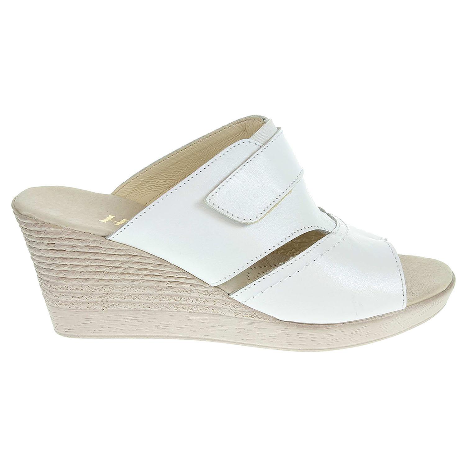 101add2d3984 Dámské pantofle J3436 bílé J3436 biela 37