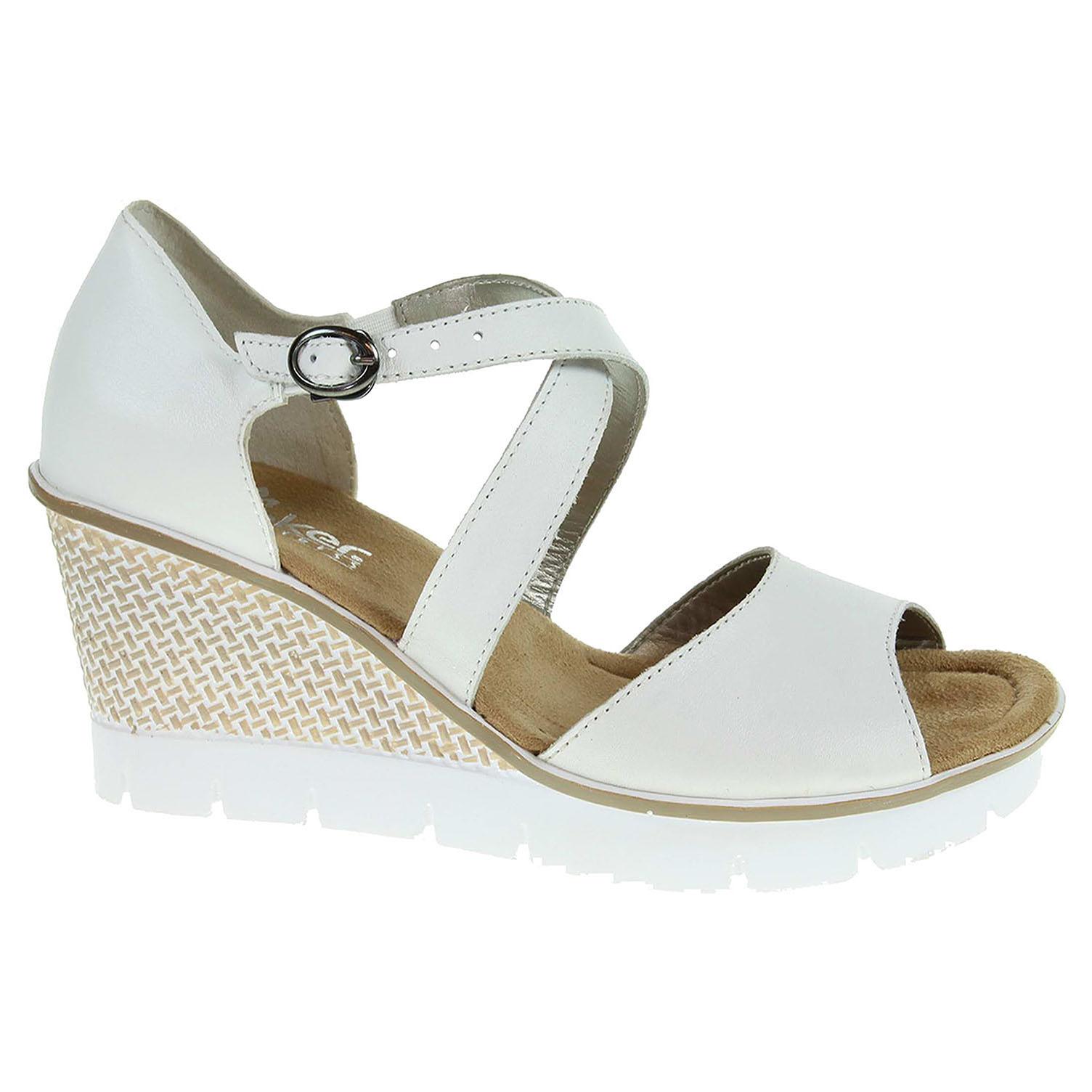 Dámské sandály Rieker 68548-80 bílé 40