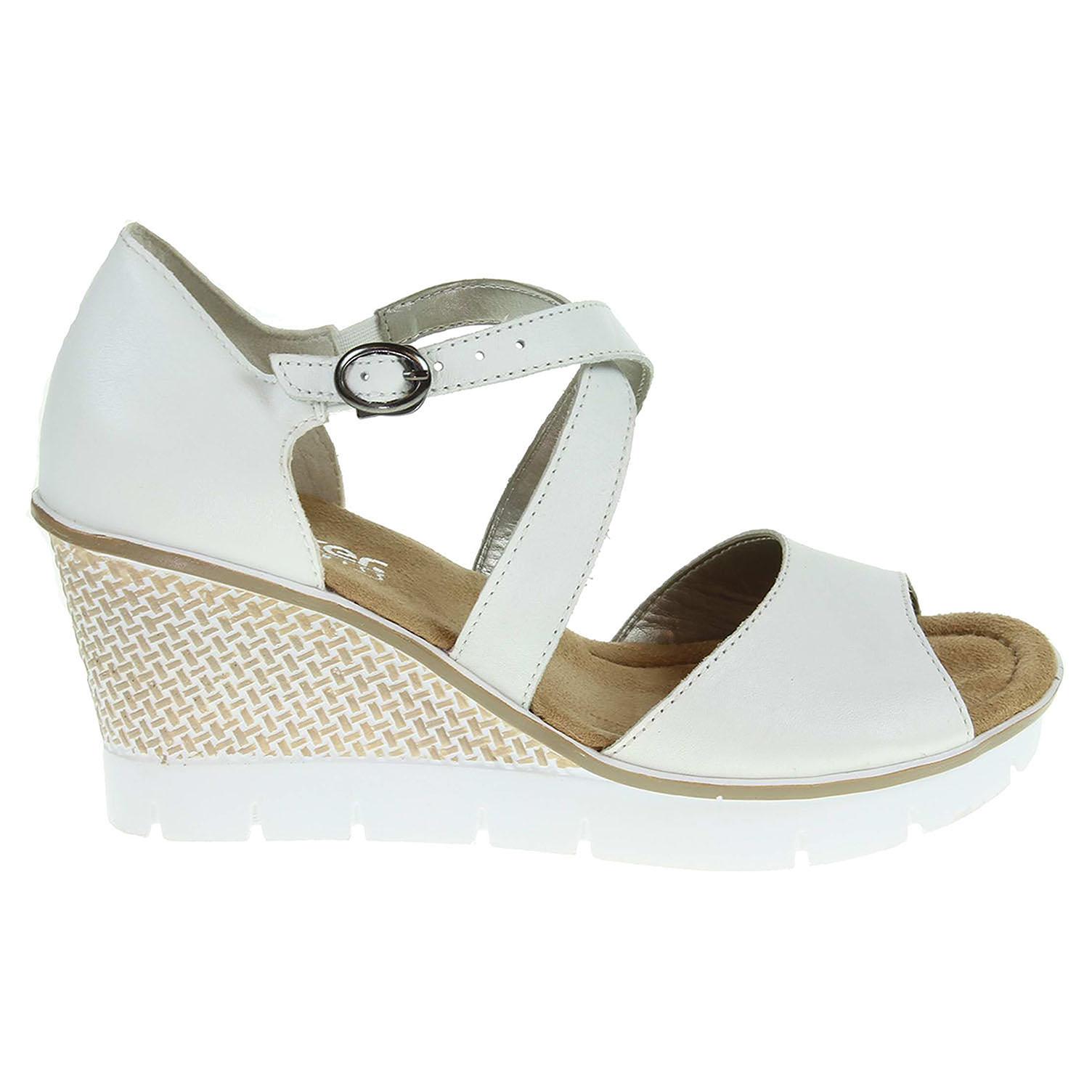 0ea643cb6b74 Rieker dámské sandály 68548-80 bílé 37