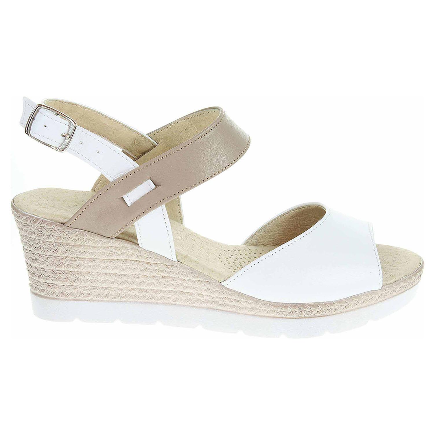 a0e50b22a855 Dámské sandály J 3928 bílá-béžová J 3928 biela béžová C 38