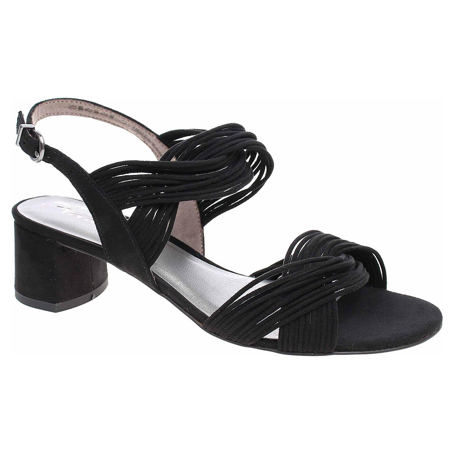 Dámská společenská obuv Tamaris 1-28204-22 black suede 1-1-28204-22 004 39