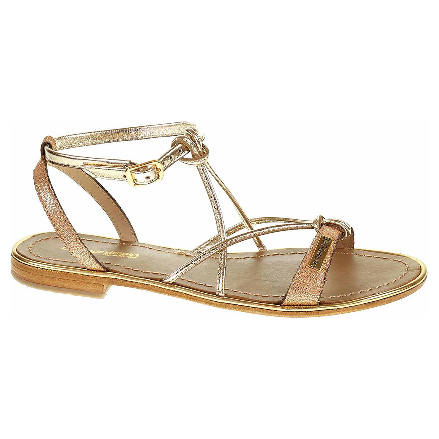Dámské sandály Les Tropeziennes 19024 Hirondel shiny coral C19024HIRONDEL 37