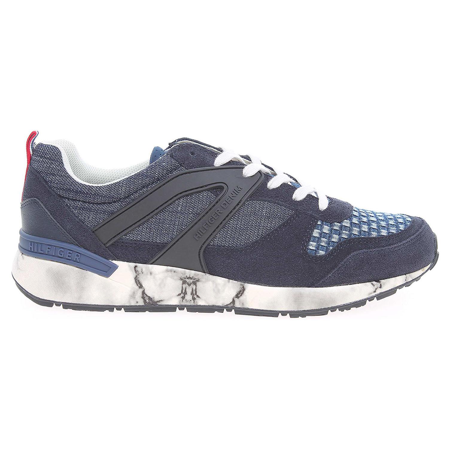 Tommy Hilfiger pánská obuv FM0FM00545 t2285rack 2c4 modrá 46